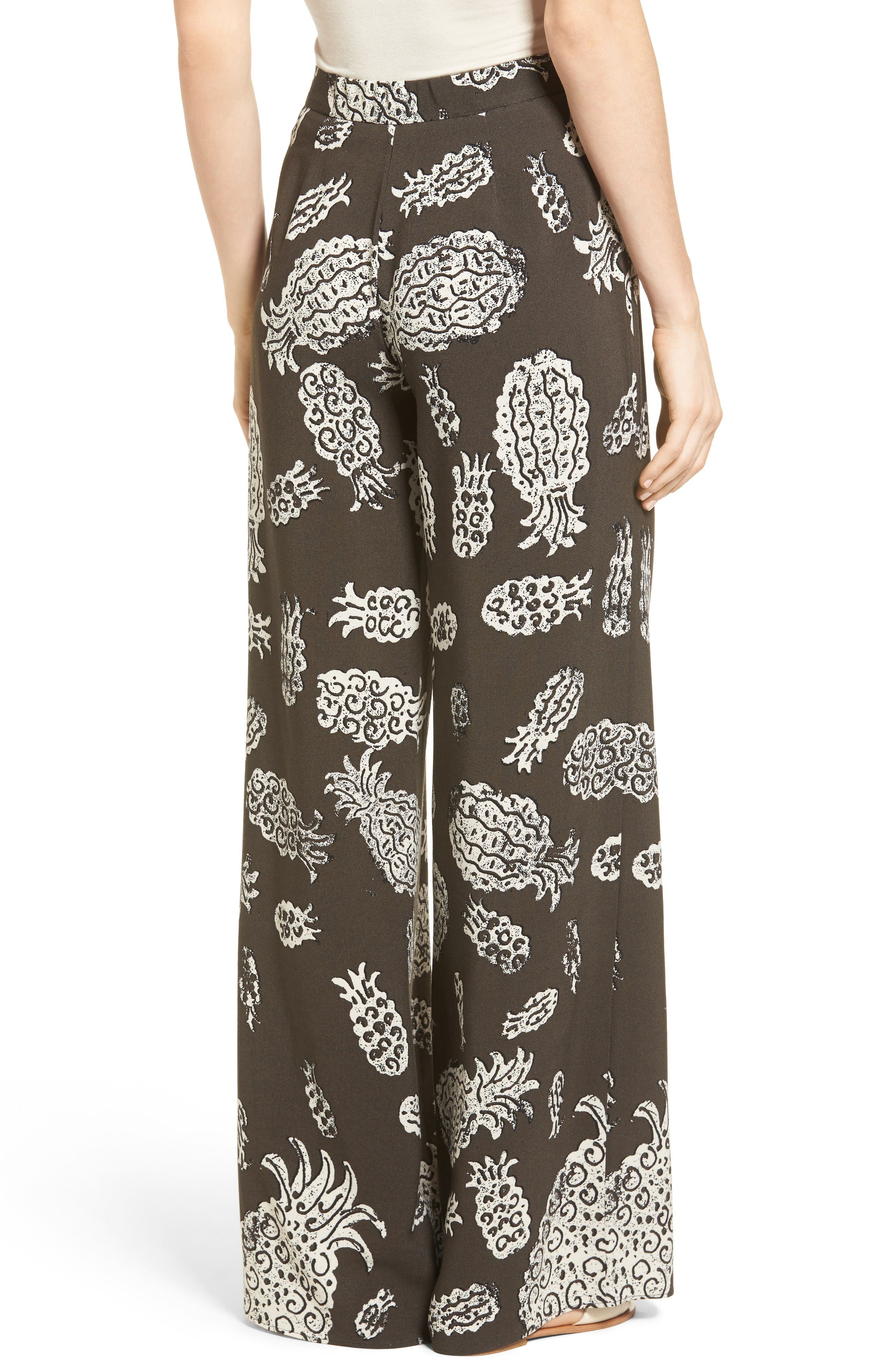 Alternate Image 3  - NIC+ZOE Pineapple Pop Print Pants