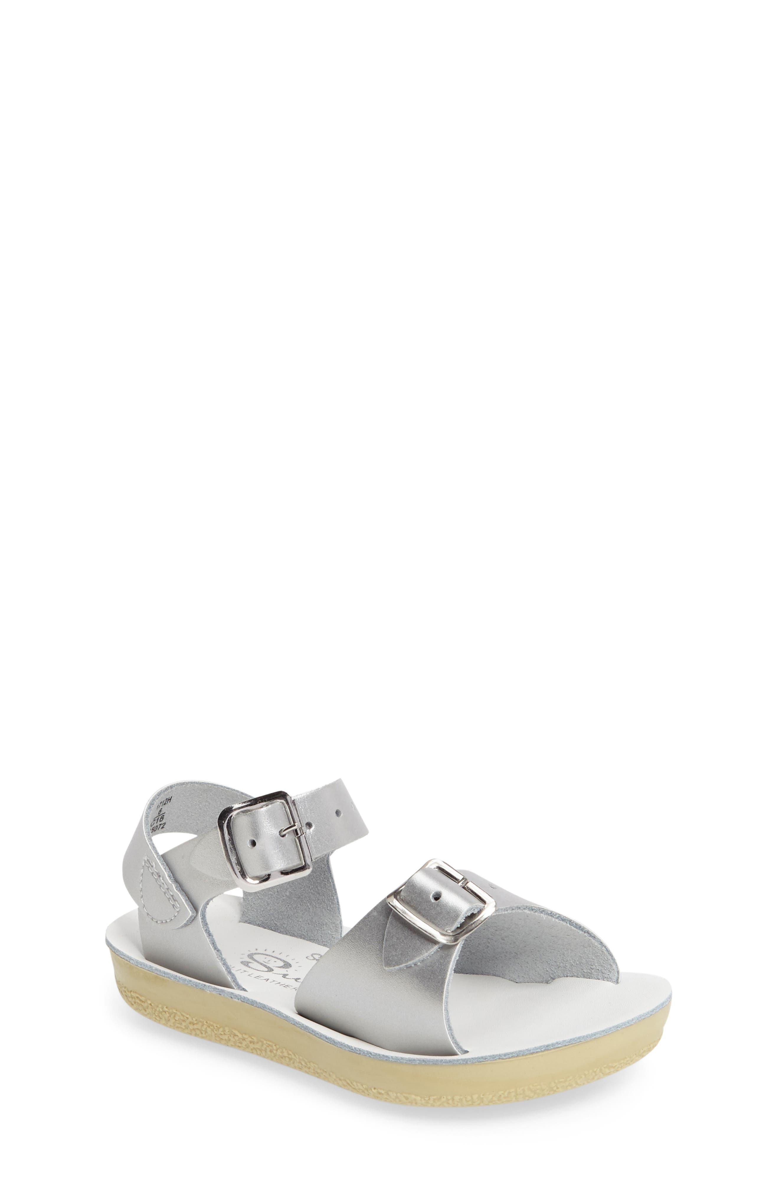 'Surfer' Sandal,                         Main,                         color, Silver