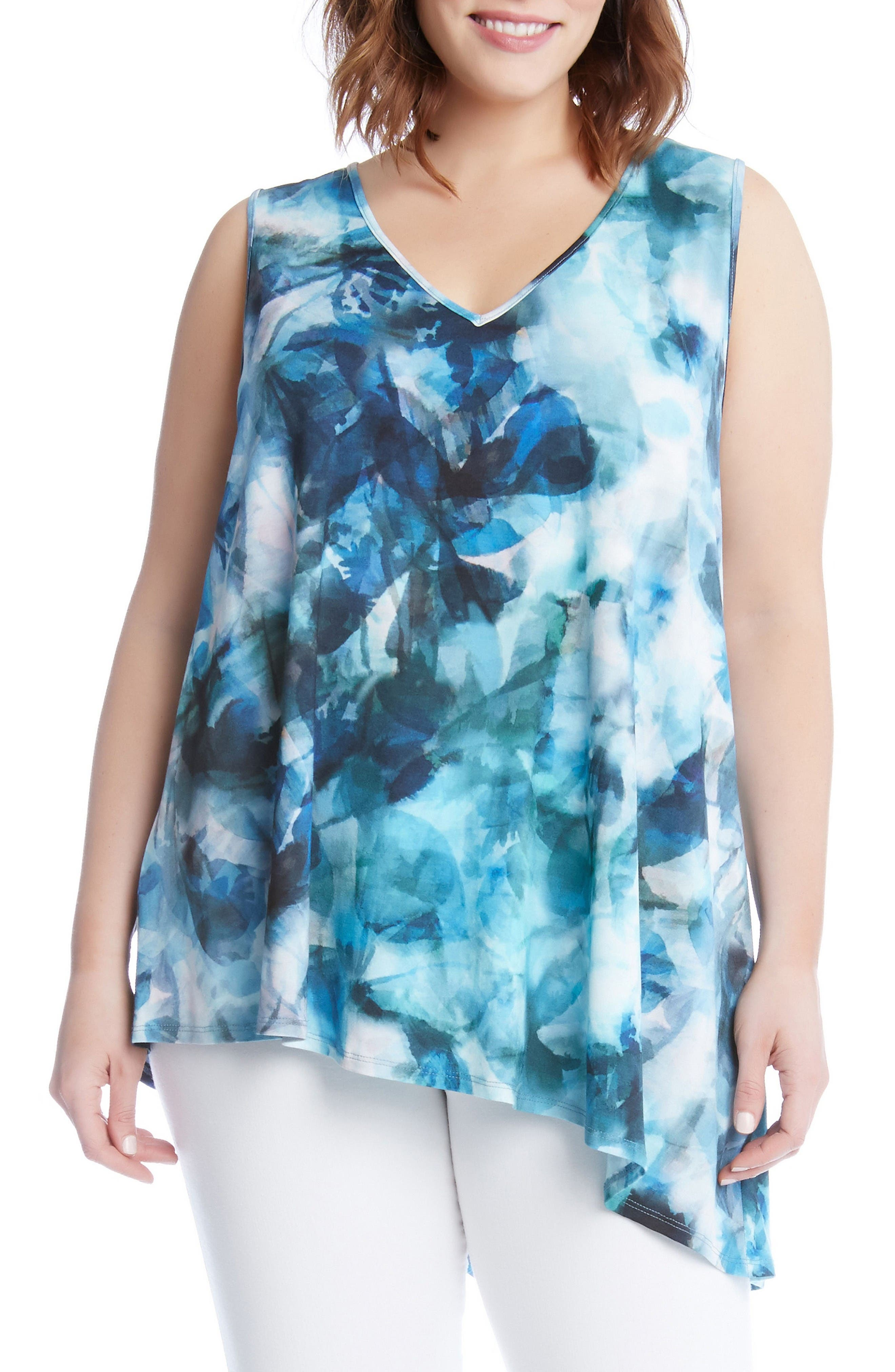 KAREN KANE Sea Glass Asymmetrical Tank