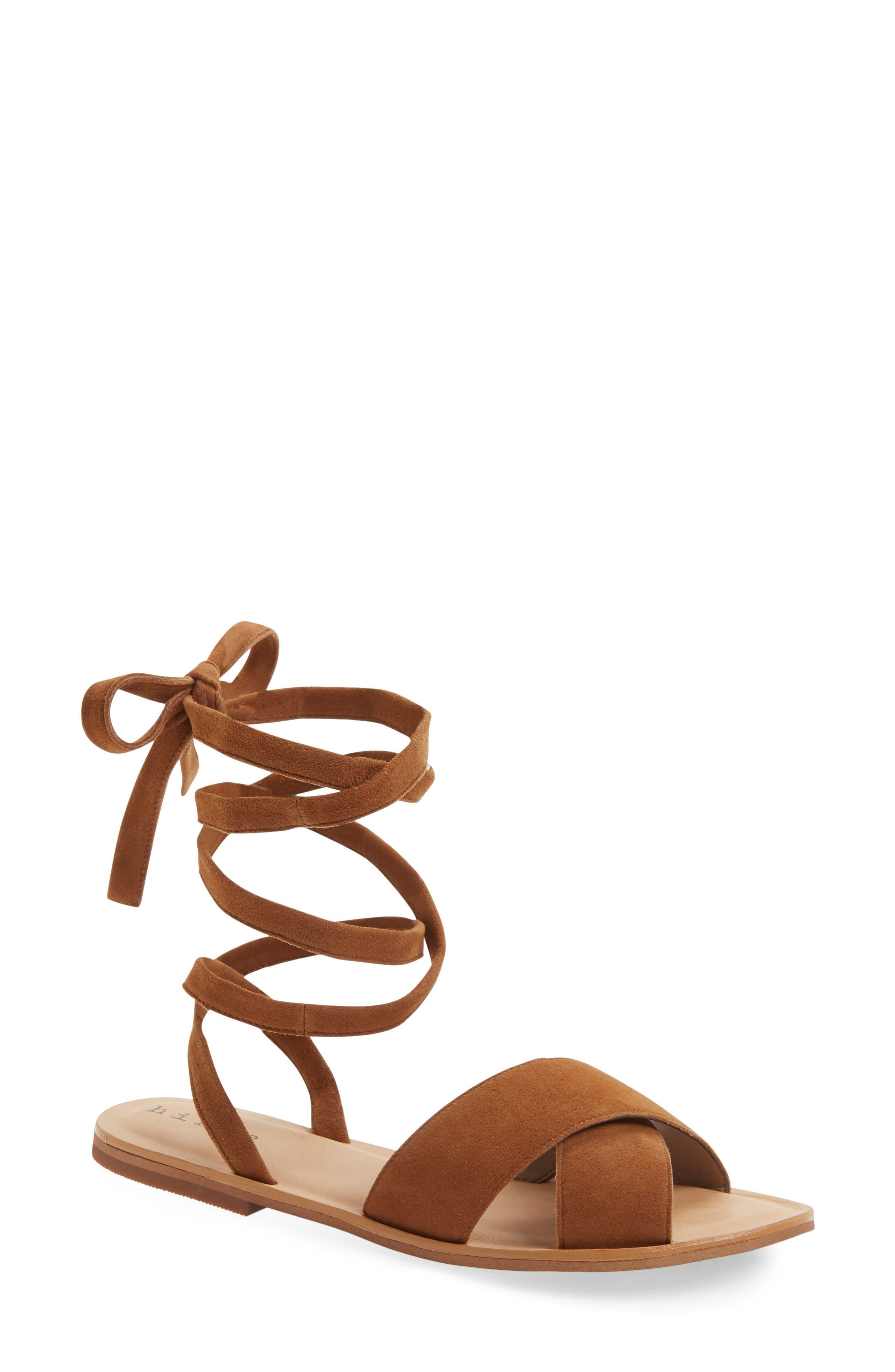 Olivia Sandal,                         Main,                         color, Brown Suede