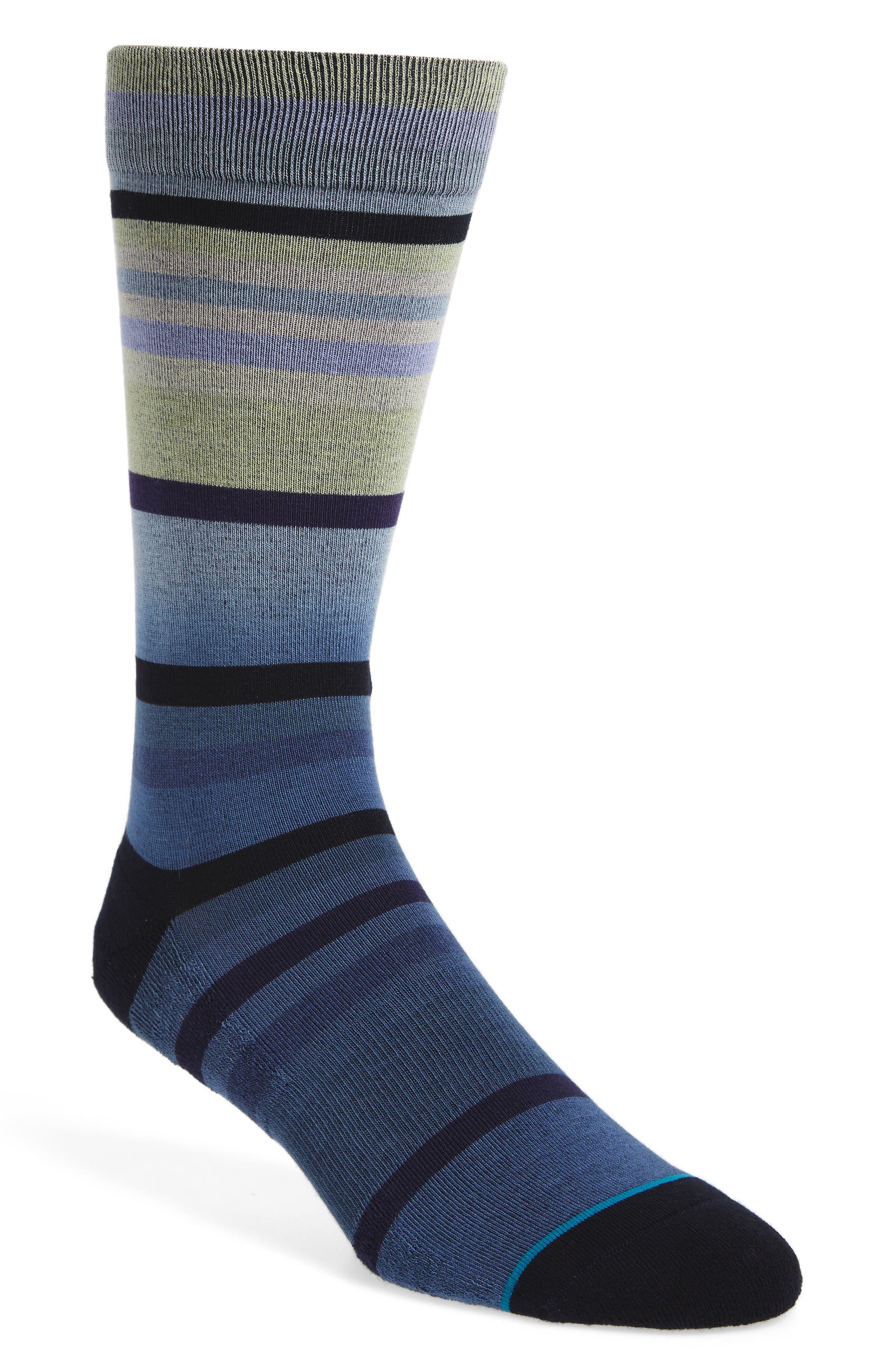 Reserve Worth Socks,                         Main,                         color, Purple/ Black