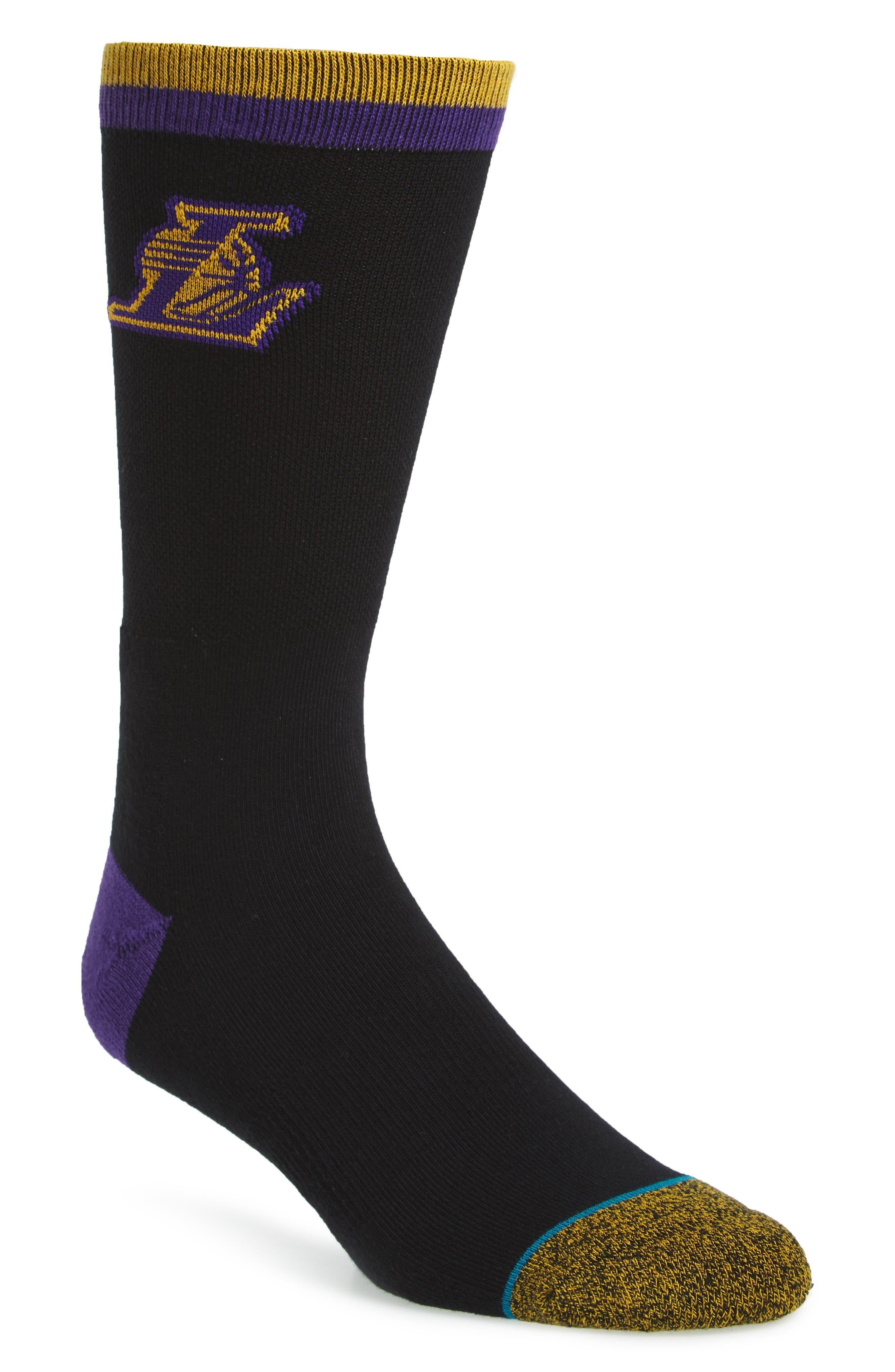 Stance NBA Casual Lakers Logo Socks
