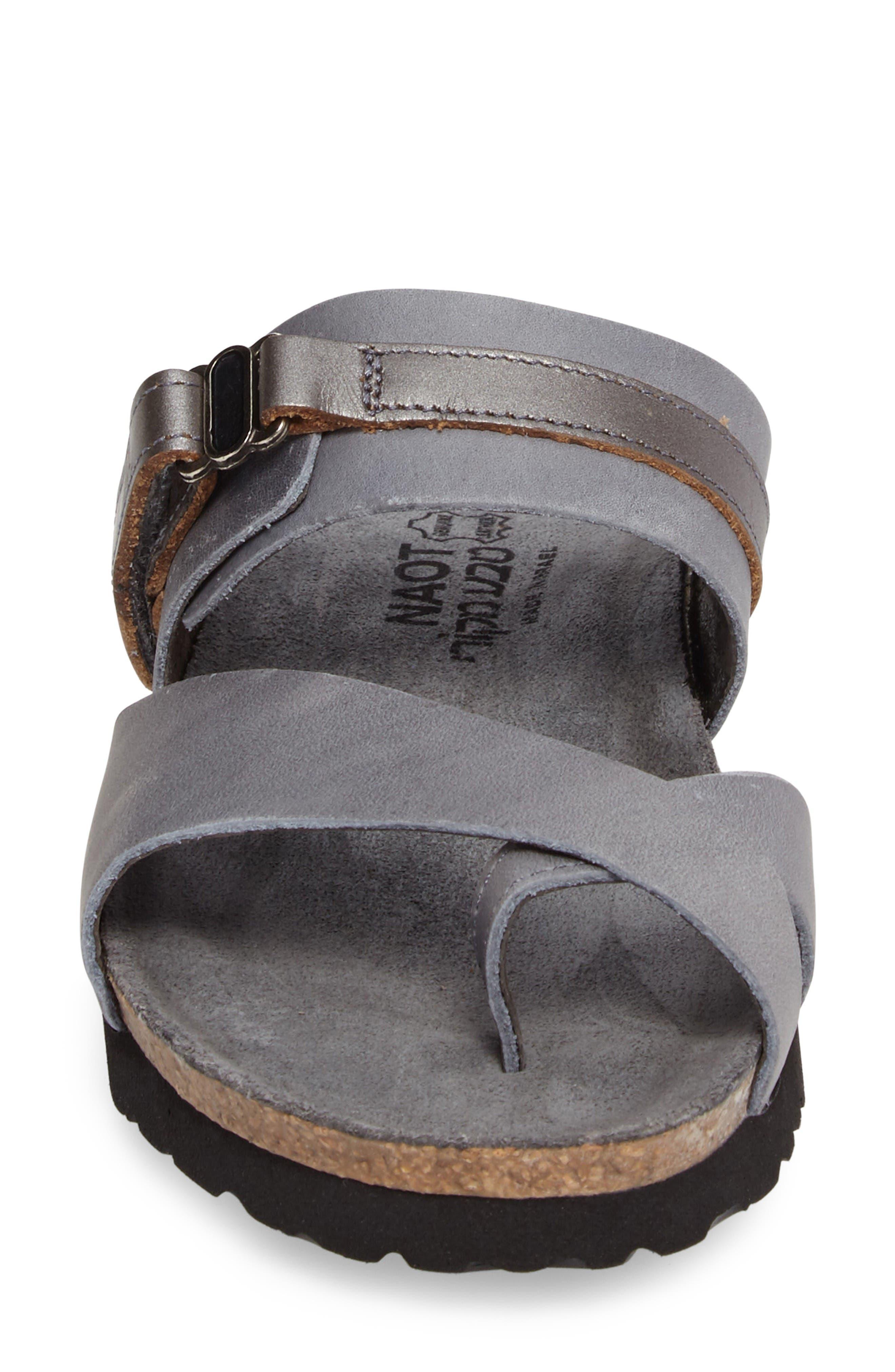 Jessica Sandal,                             Alternate thumbnail 4, color,                             Vintage Slate Leather