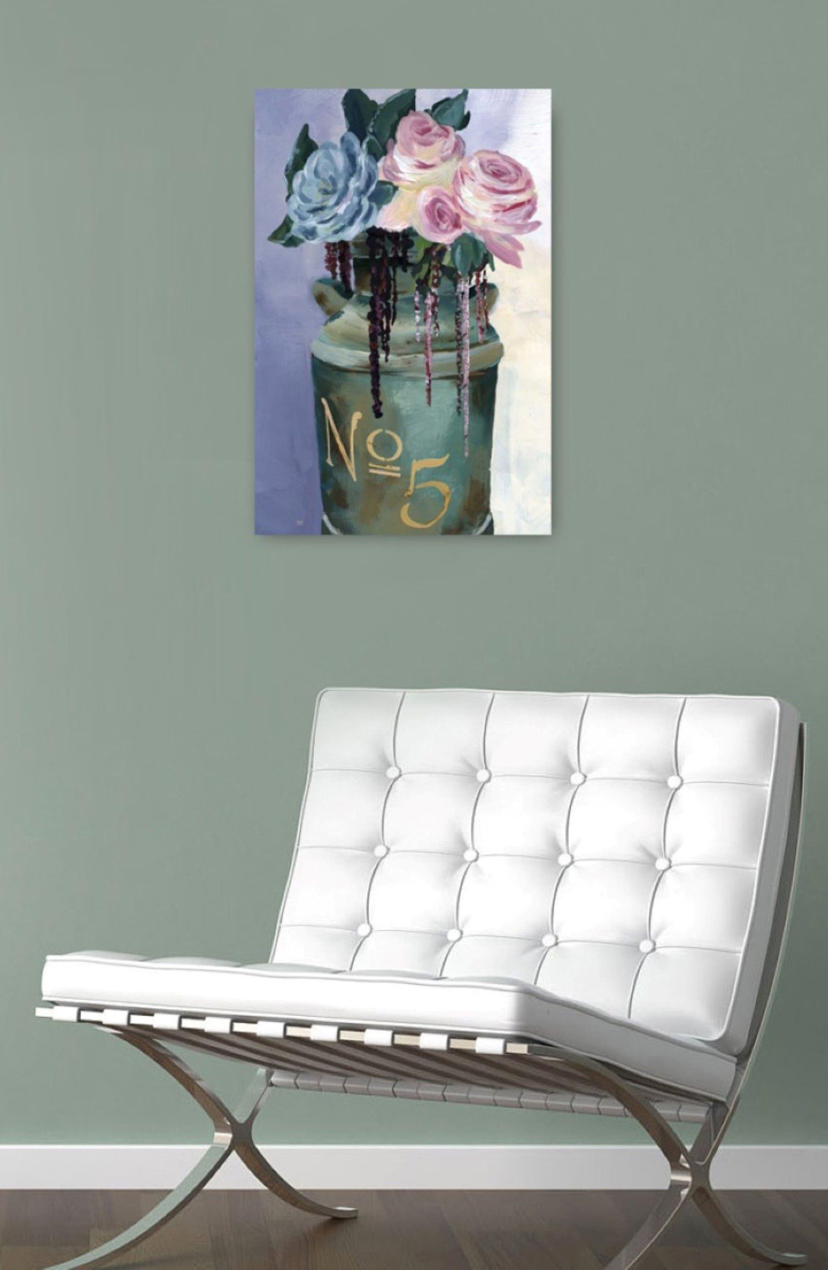 No. 5 Jar Canvas Wall Art,                             Alternate thumbnail 2, color,                             White