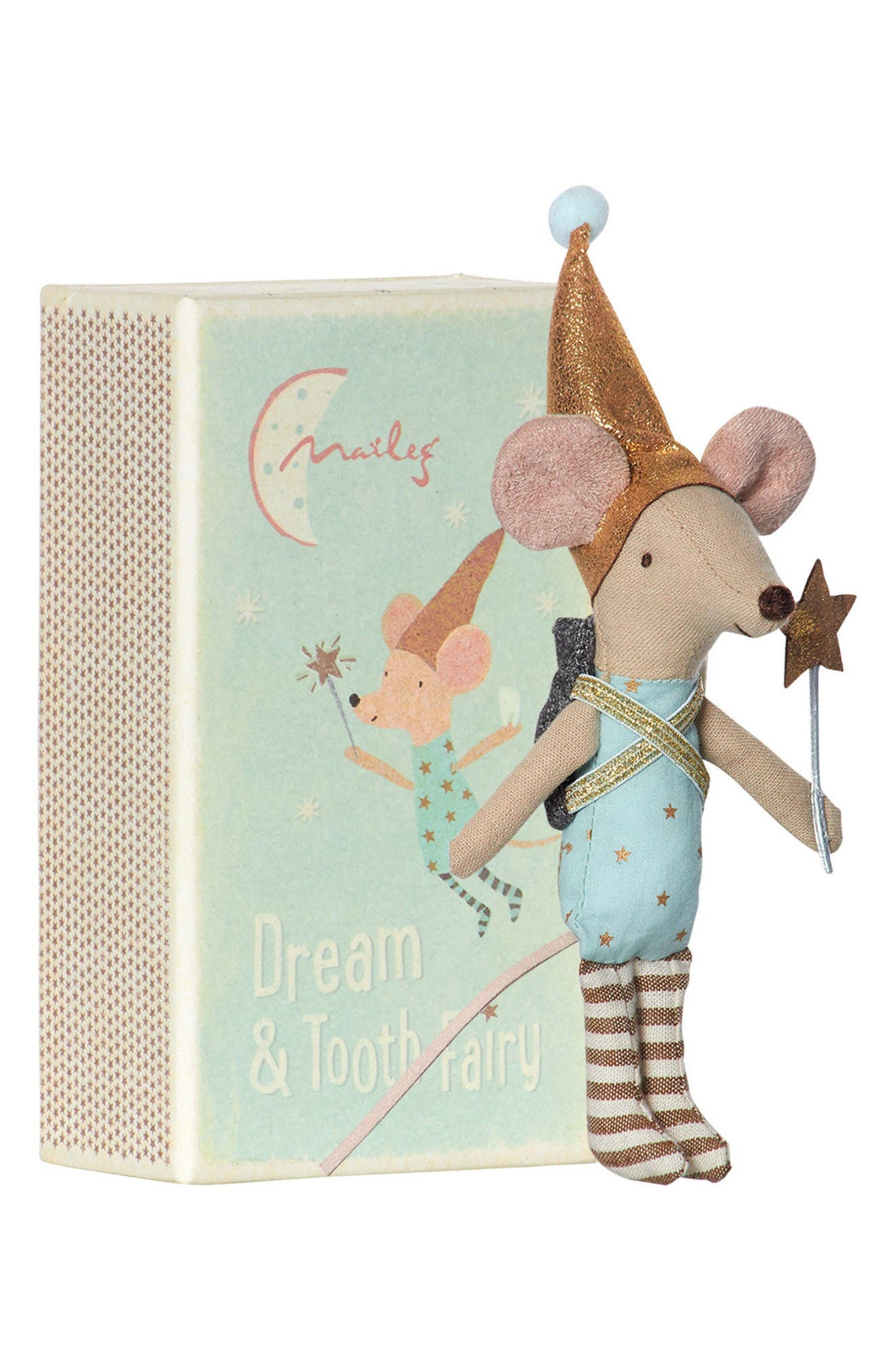 Maileg Boy Tooth Fairy Mouse Stuffed Animal in Box