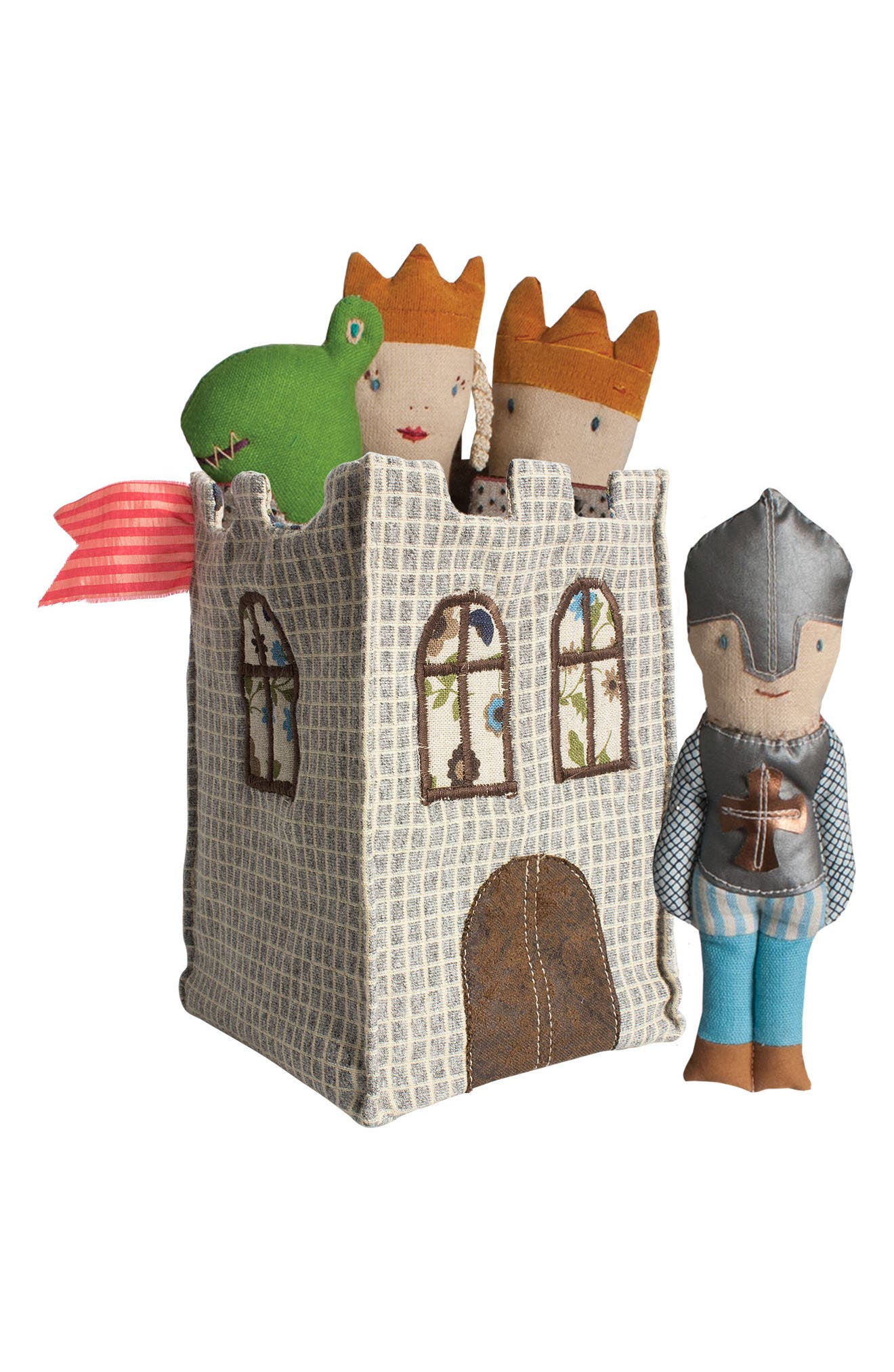 Castle & Knight Rattle 5-Piece Play Set,                             Main thumbnail 1, color,                             Brown