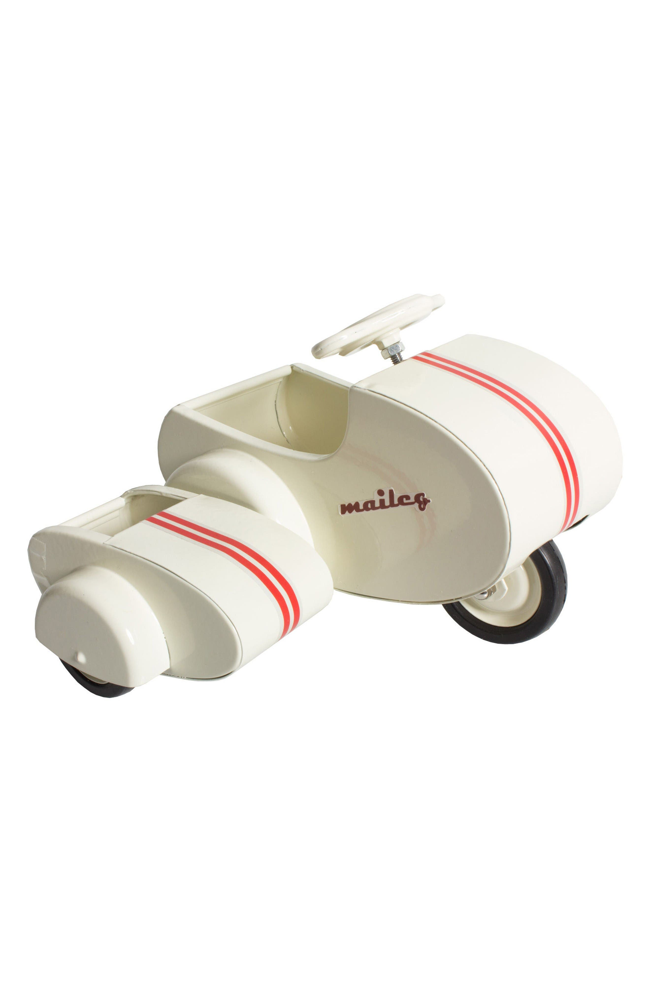 Mini Mouse Scooter Toy with Side Car,                         Main,                         color, White
