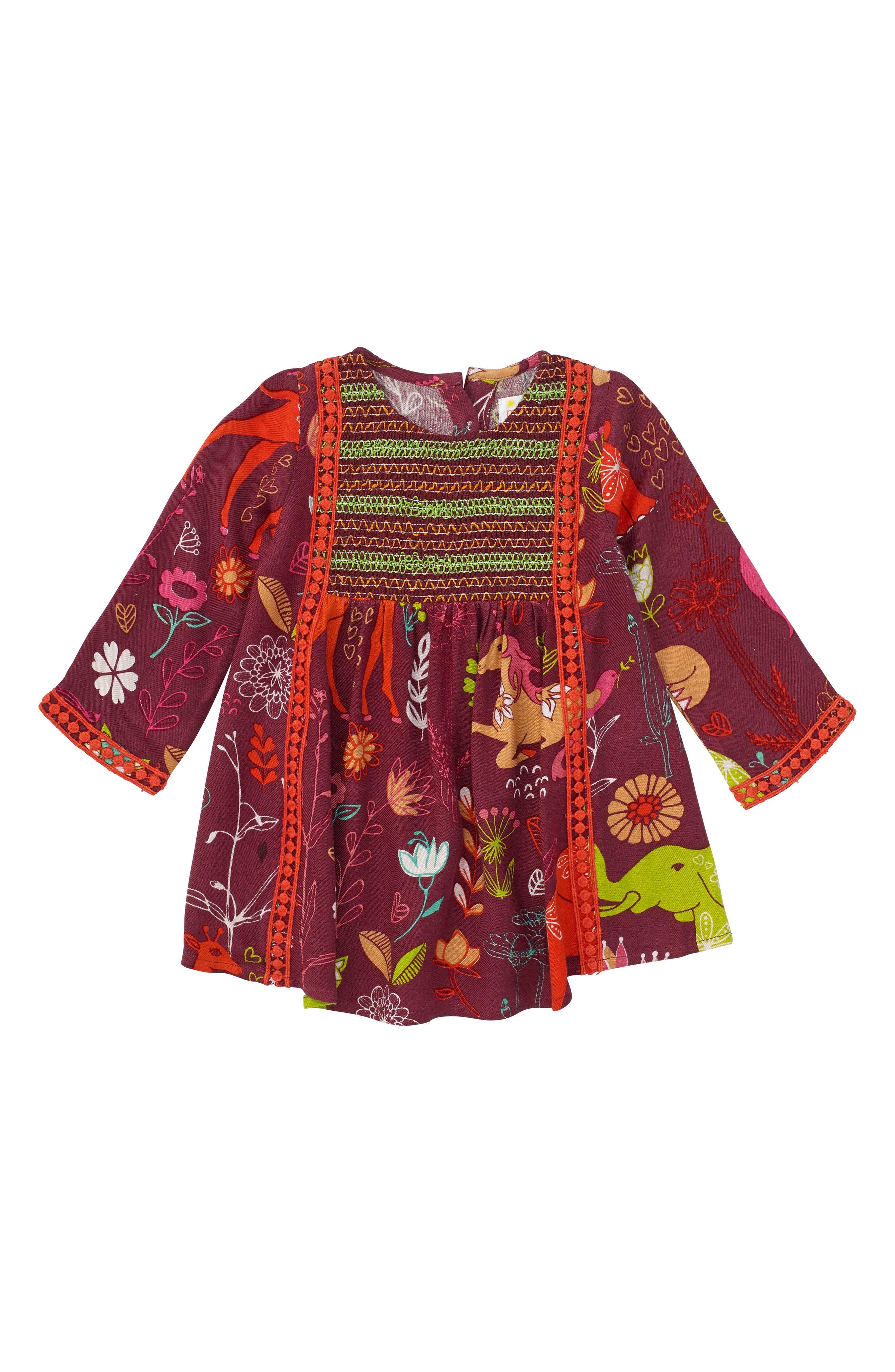Main Image - Masasla Baby Magical Smocked Dress (Baby Girls)