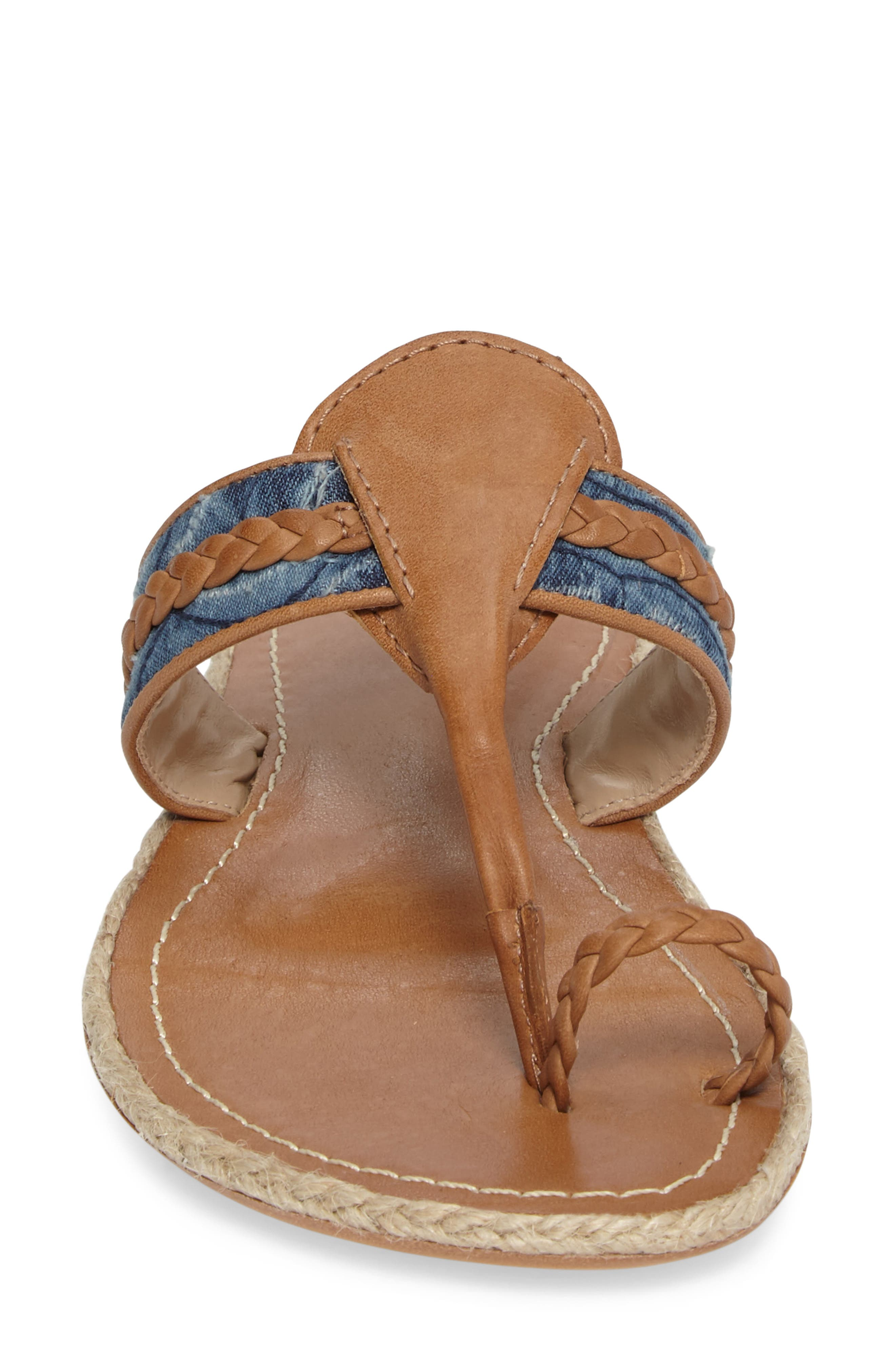 Wendy Sandal,                             Alternate thumbnail 4, color,                             Tan Leather