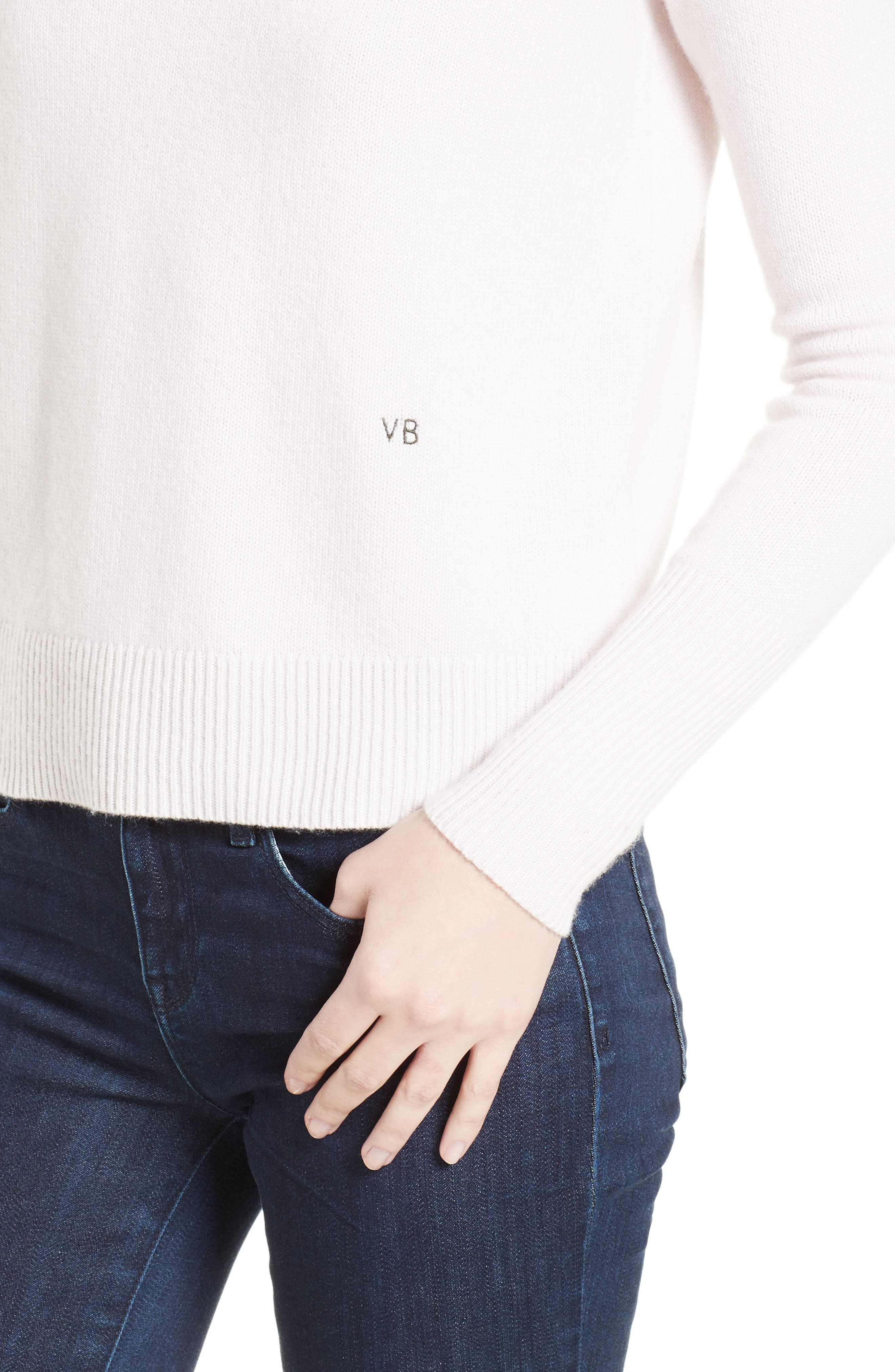 Cashmere Sweater,                             Alternate thumbnail 6, color,                             Butter