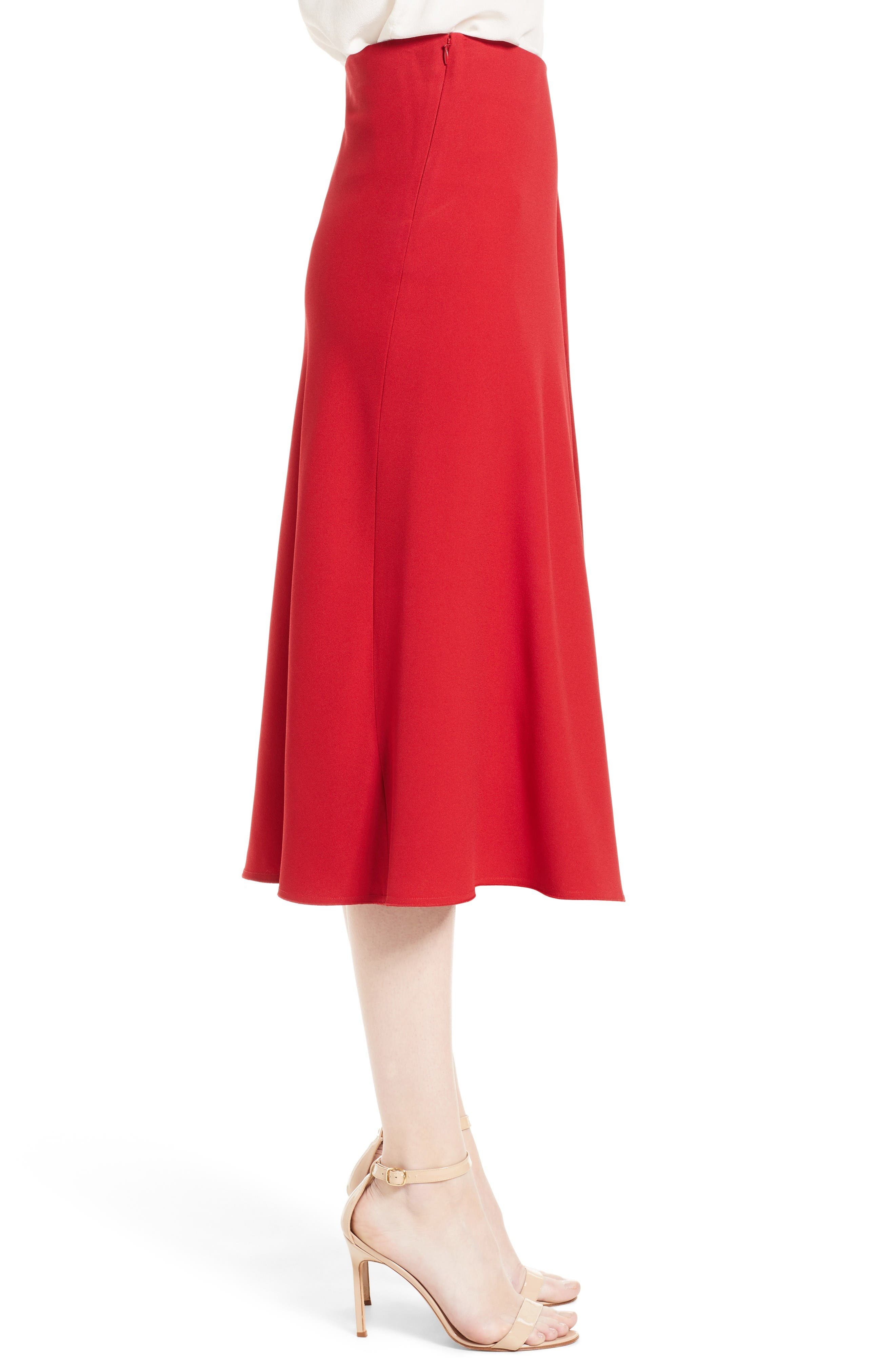 Alternate Image 4  - Victoria Beckham Satin Crepe Godet Skirt