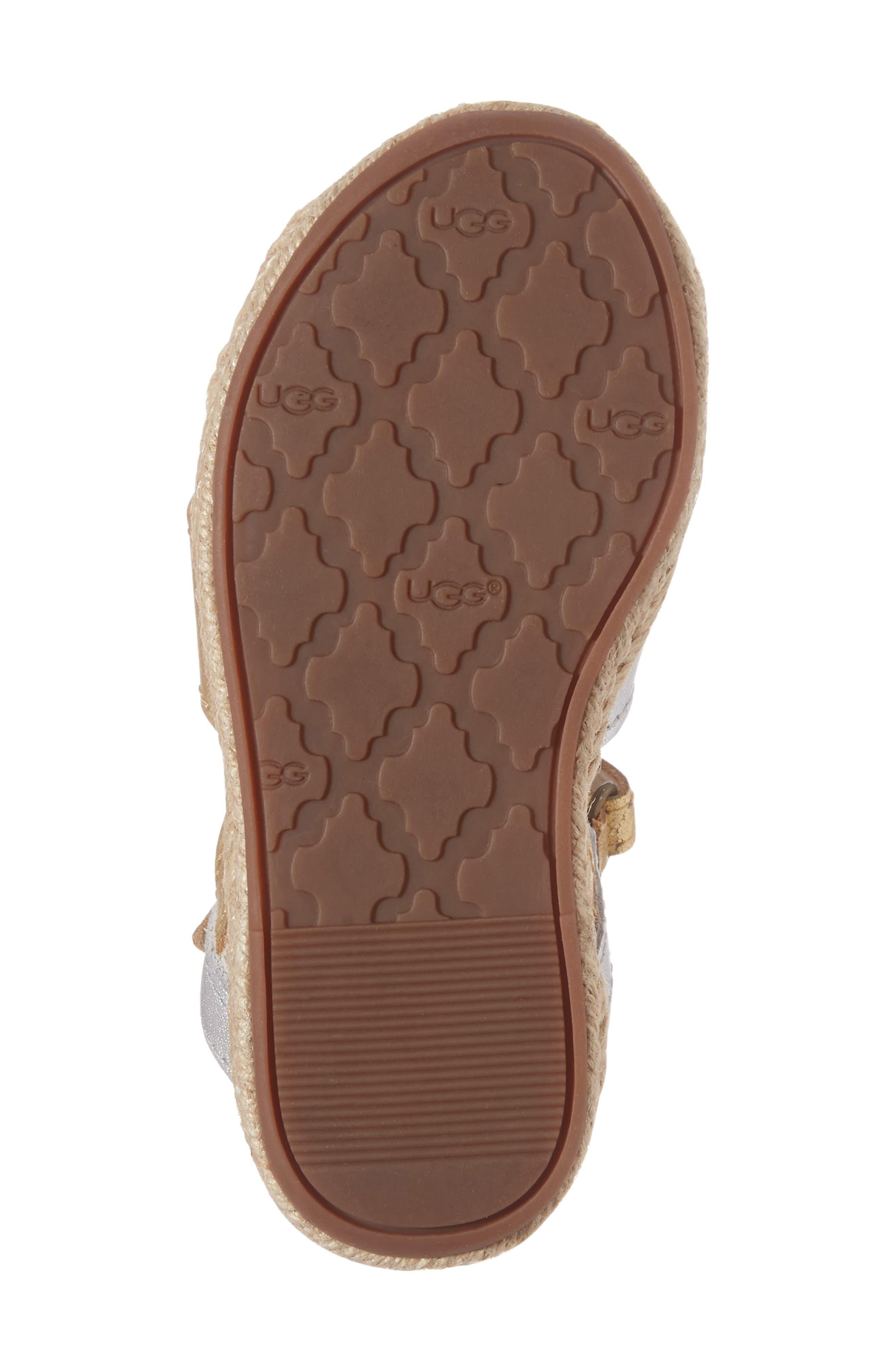 Alternate Image 6  - UGG® Addilyn Sandal (Walker & Toddler)