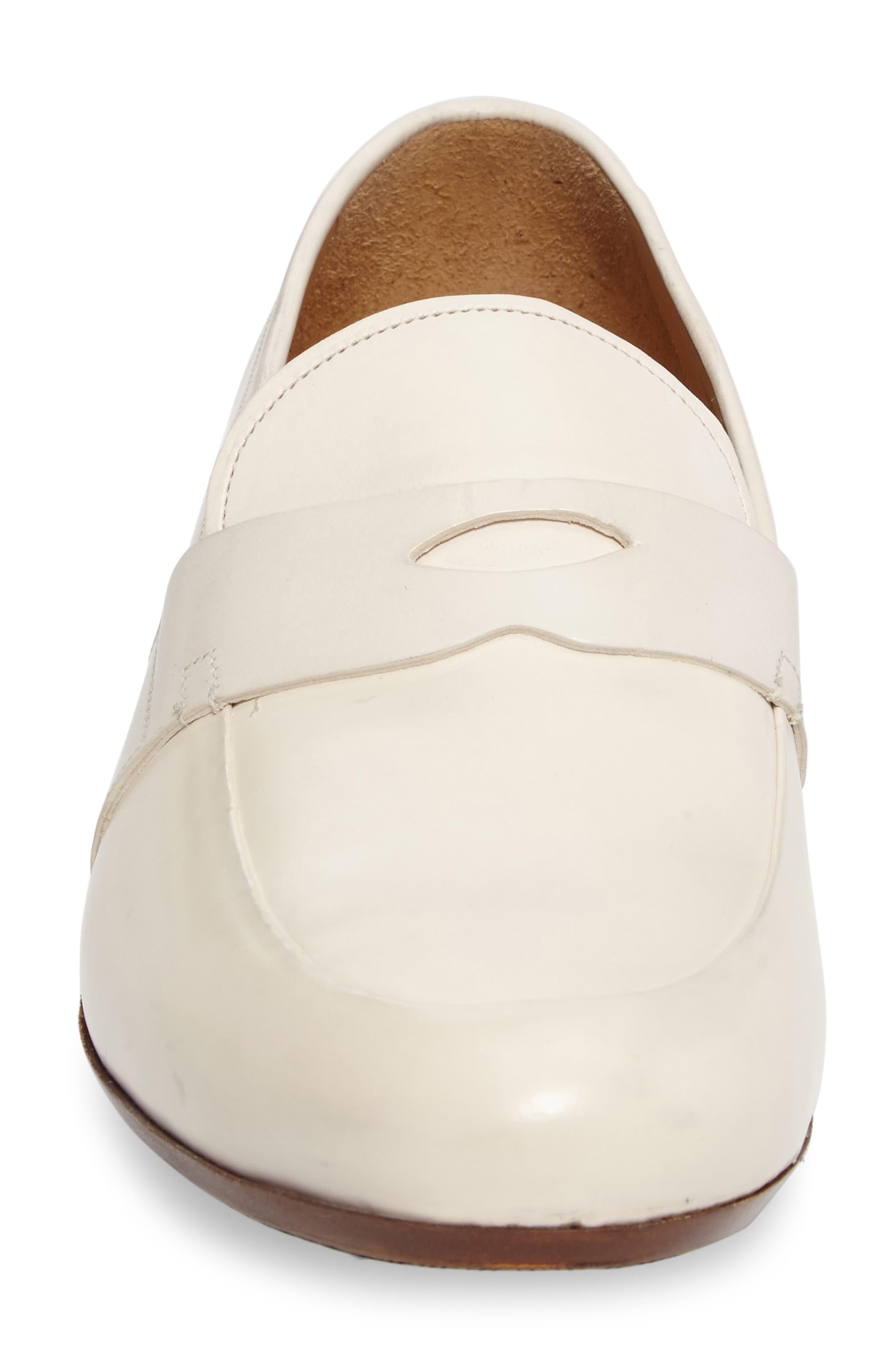 Leopold Penny Loafer,                             Alternate thumbnail 4, color,                             Bone Leather
