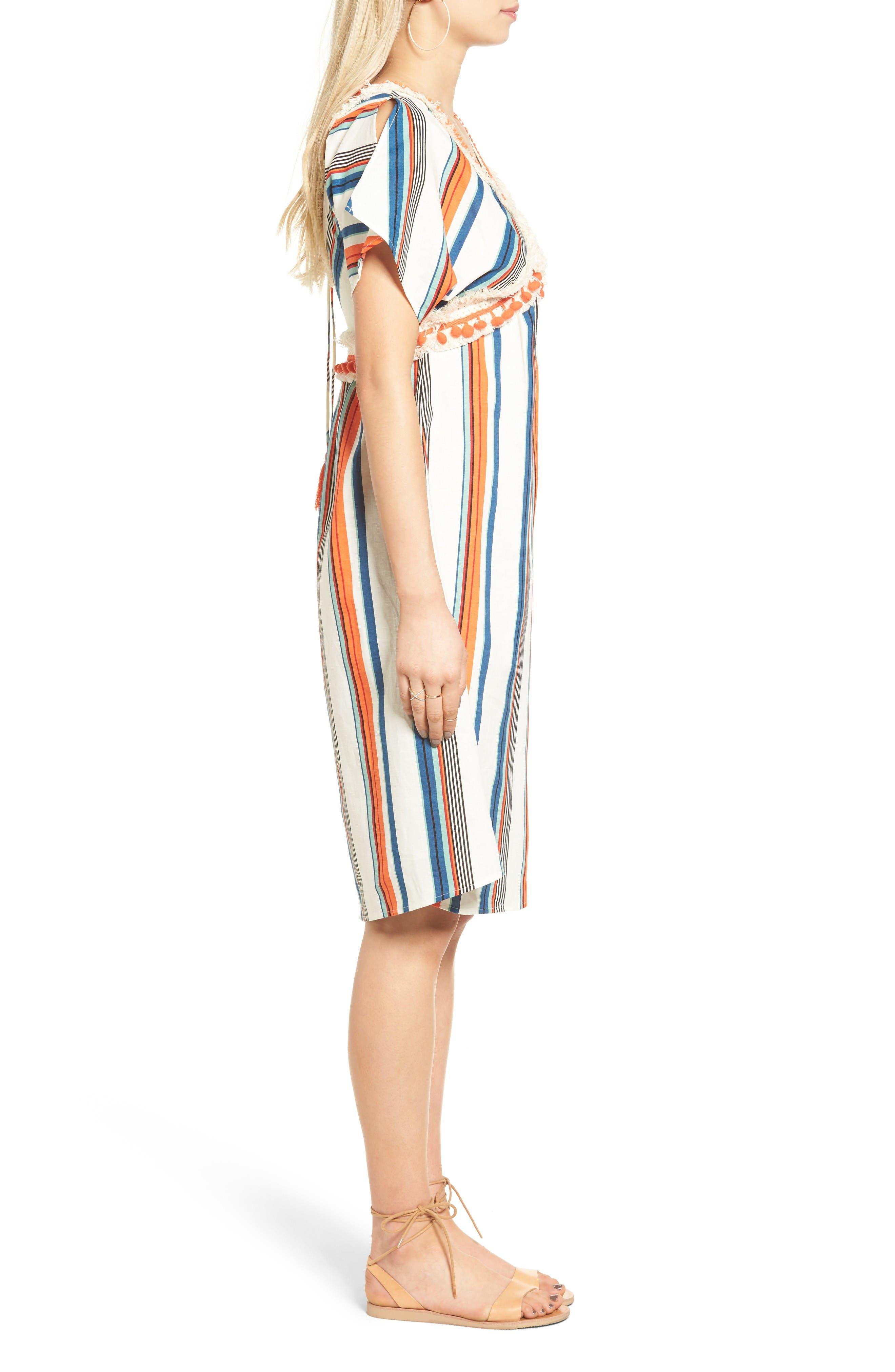 Alternate Image 4  - MOON RIVER Stripe Linen & Cotton Dress