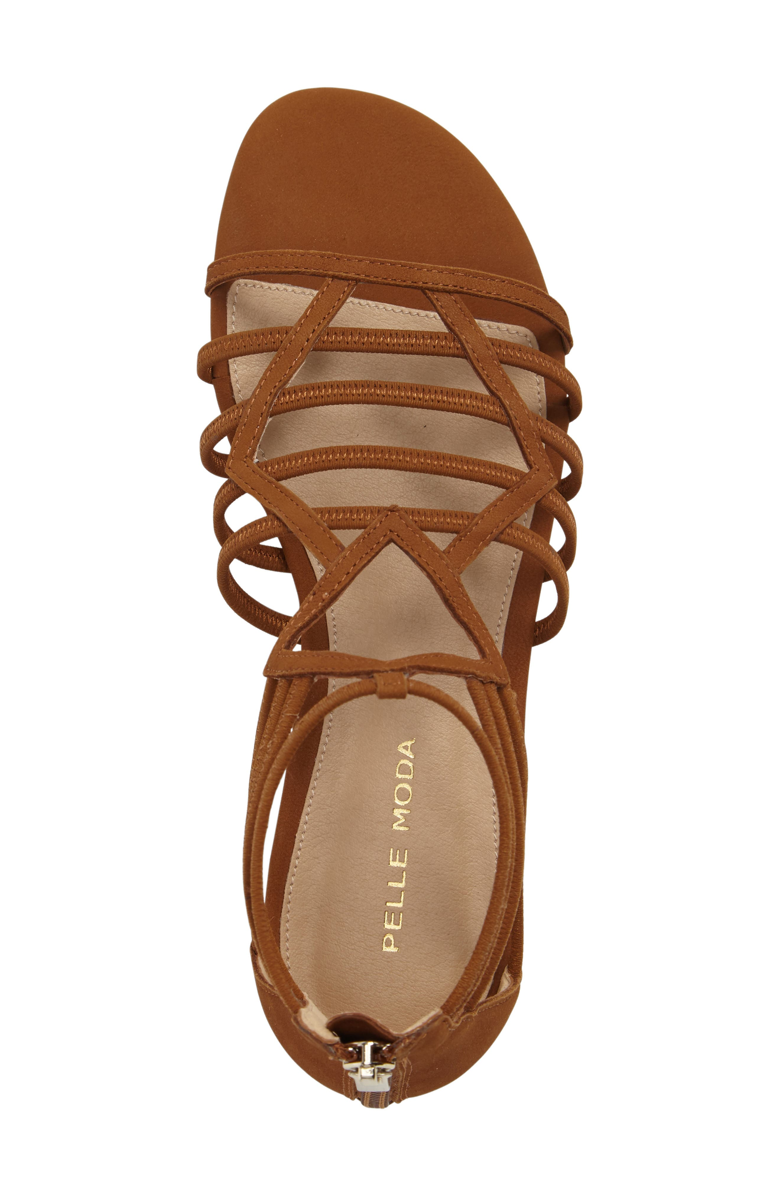 Brazil Strappy Sandal,                             Alternate thumbnail 5, color,                             Luggage Leather