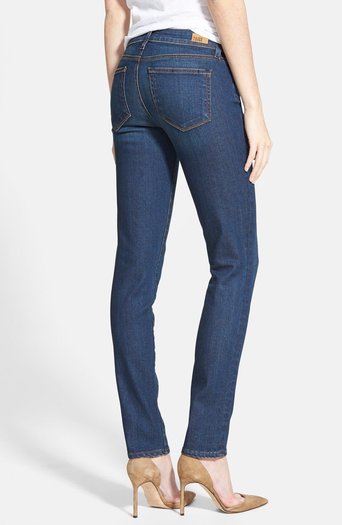 Alternate Image 2  - Paige Denim 'Skyline' Skinny Jeans (Mischa Blue)