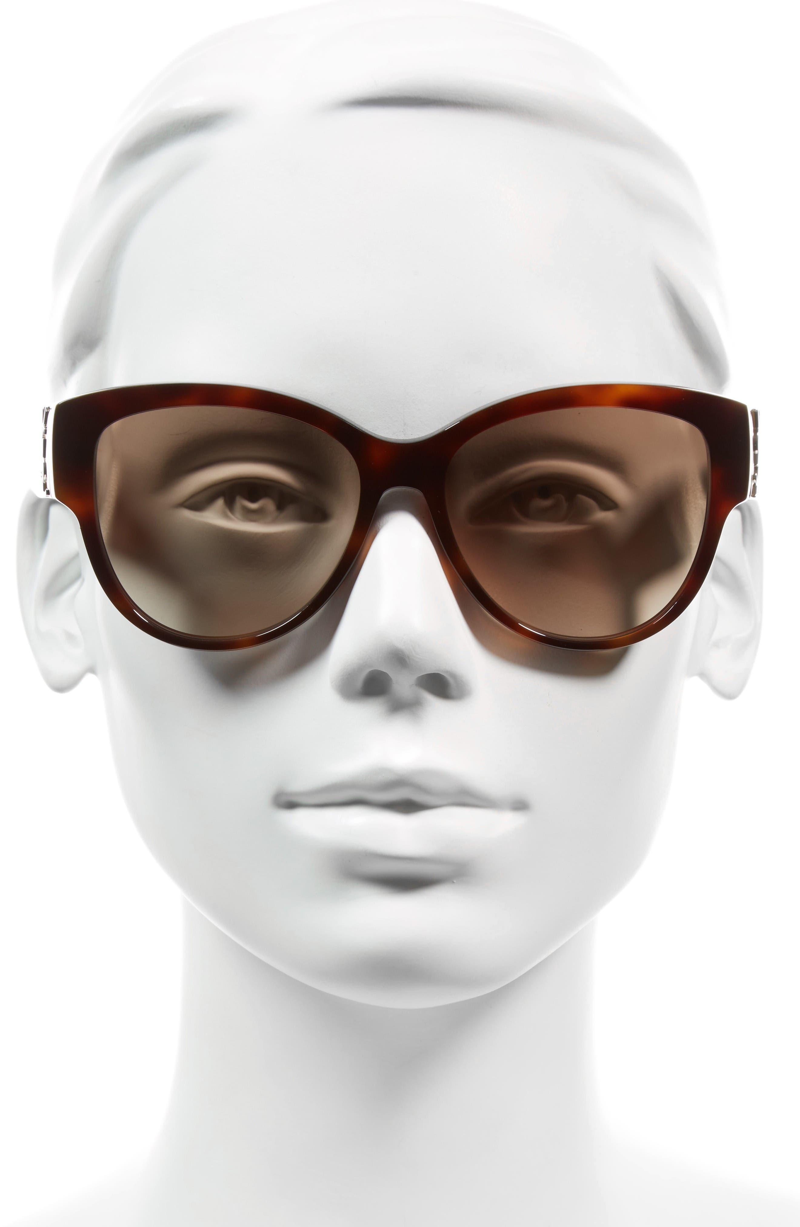 Alternate Image 2  - Saint Laurent 55mm Cat Eye Sunglasses