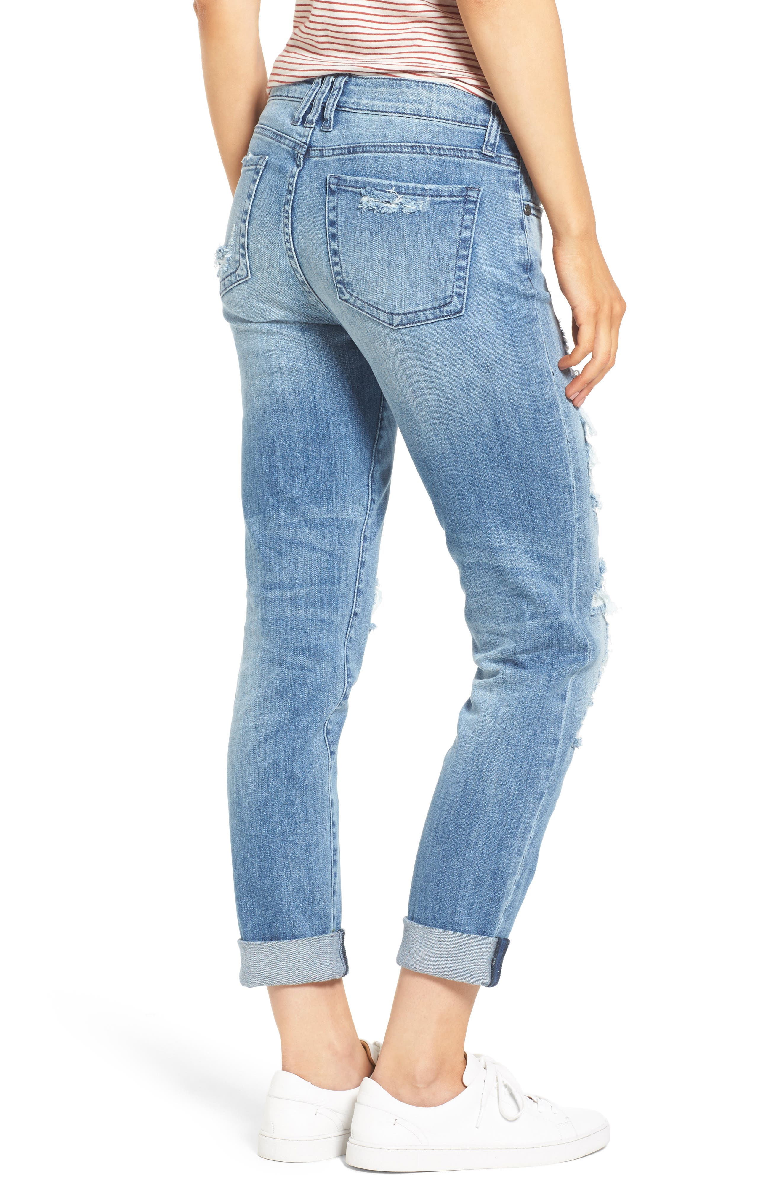 Alternate Image 2  - KUT from the Kloth Catherine Ripped & Repaired Boyfriend Jeans (Novel)