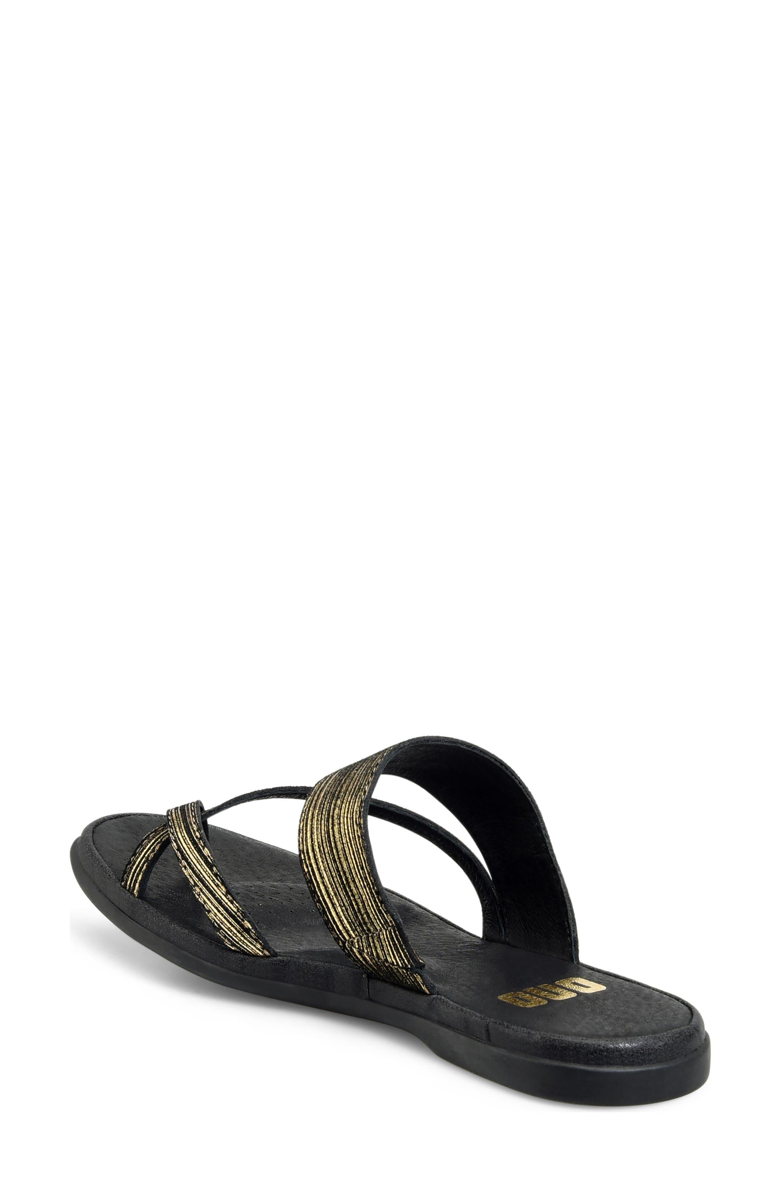 Kia Sandal,                             Alternate thumbnail 2, color,                             Black/ Gold Leather