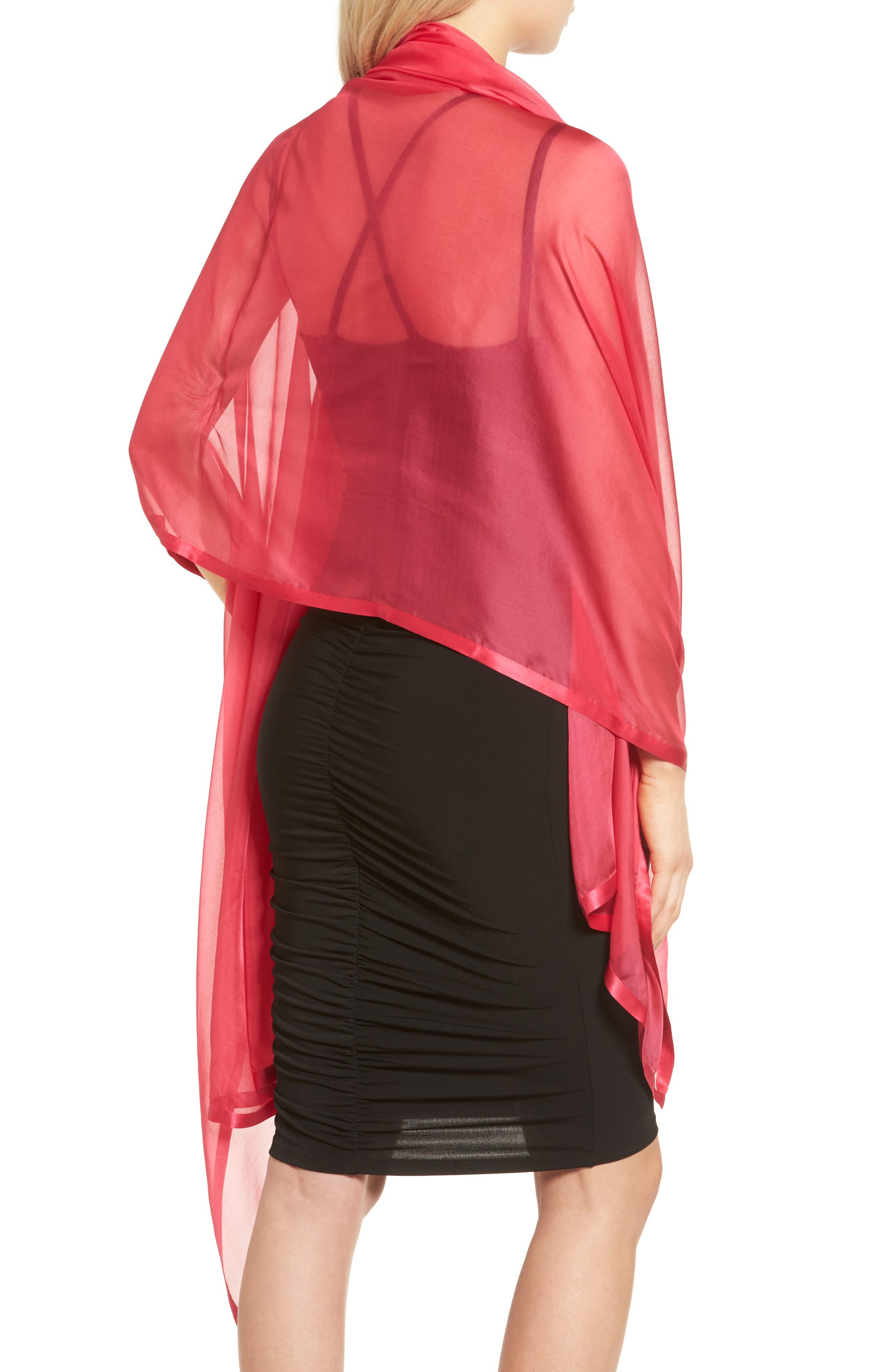 Alternate Image 2  - Glint Satin Border Silk Wrap
