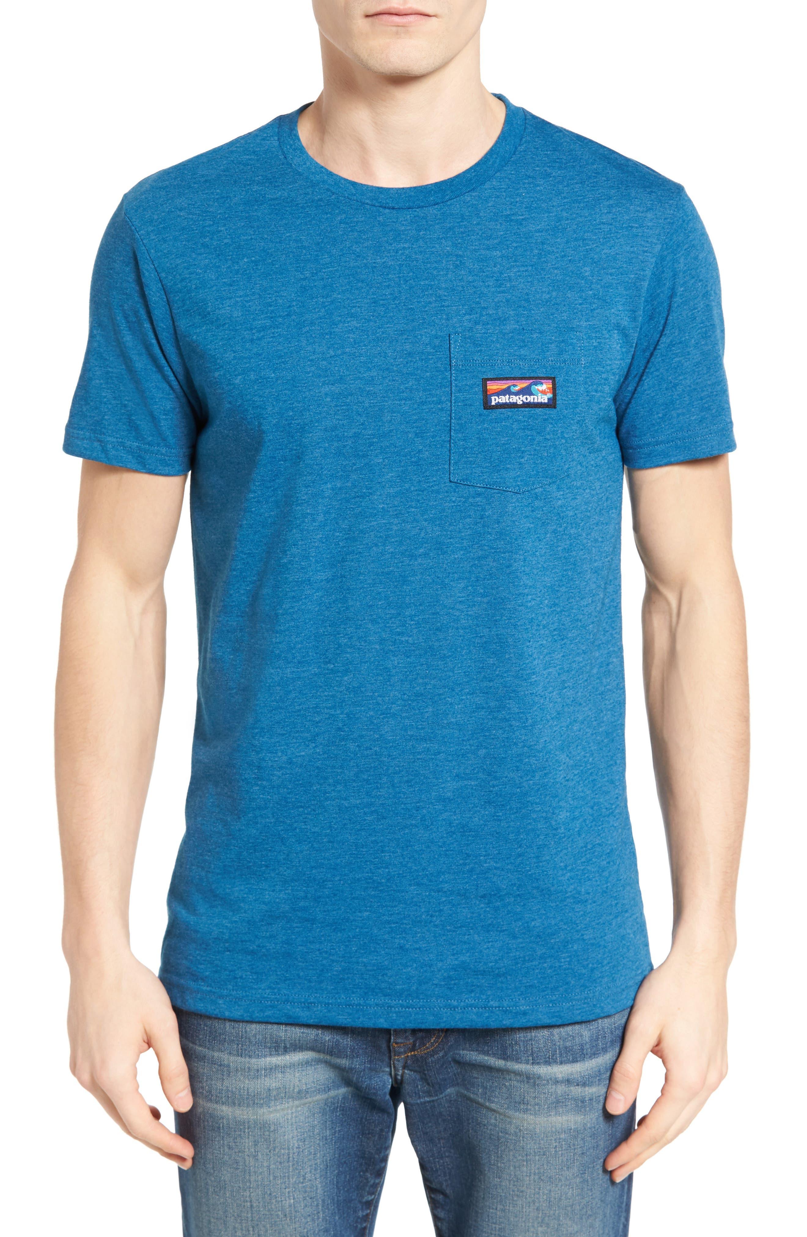 Board Short Label T-Shirt,                         Main,                         color, Blue