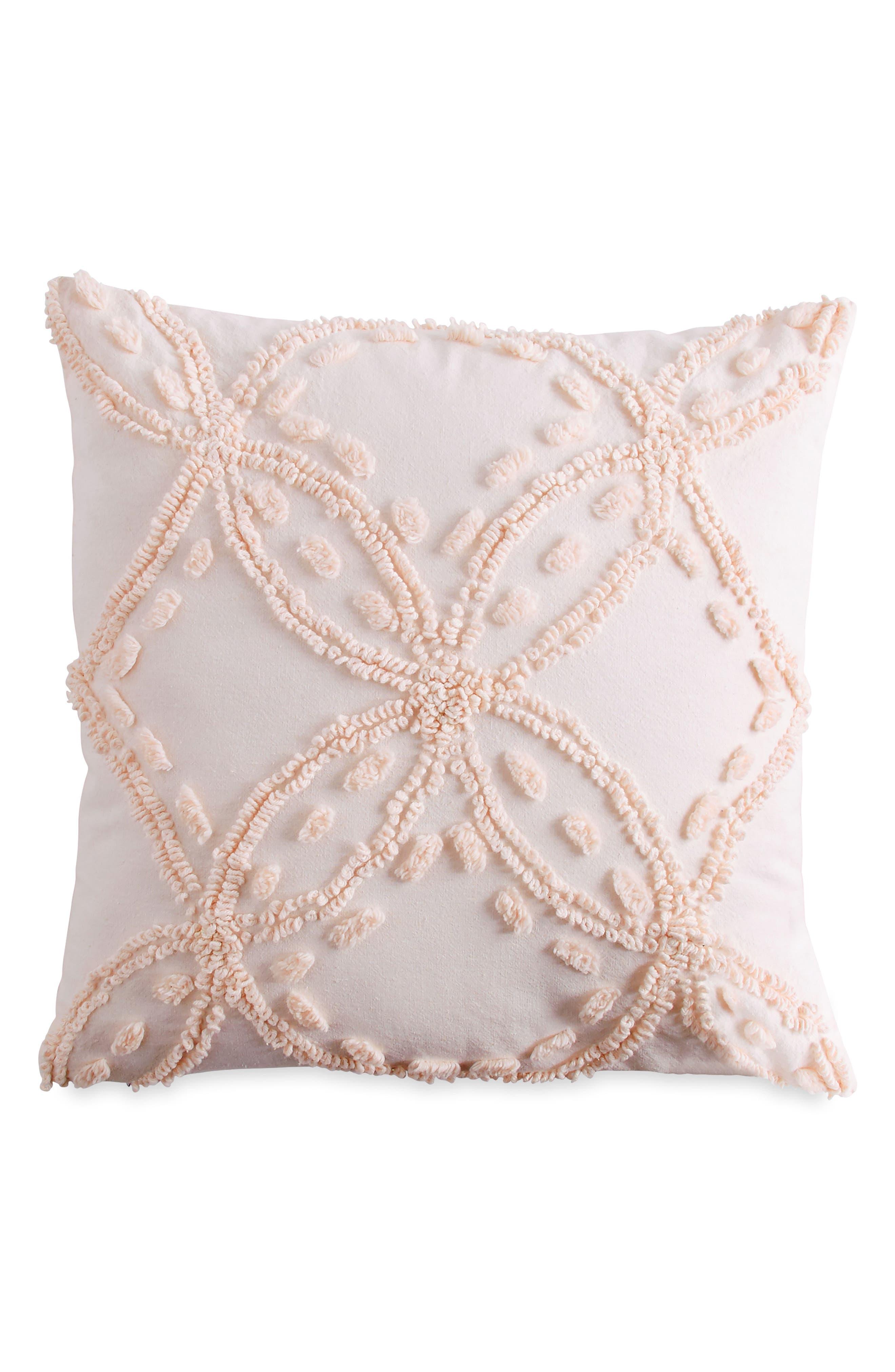 Chenille Pillow,                             Main thumbnail 1, color,                             Blush