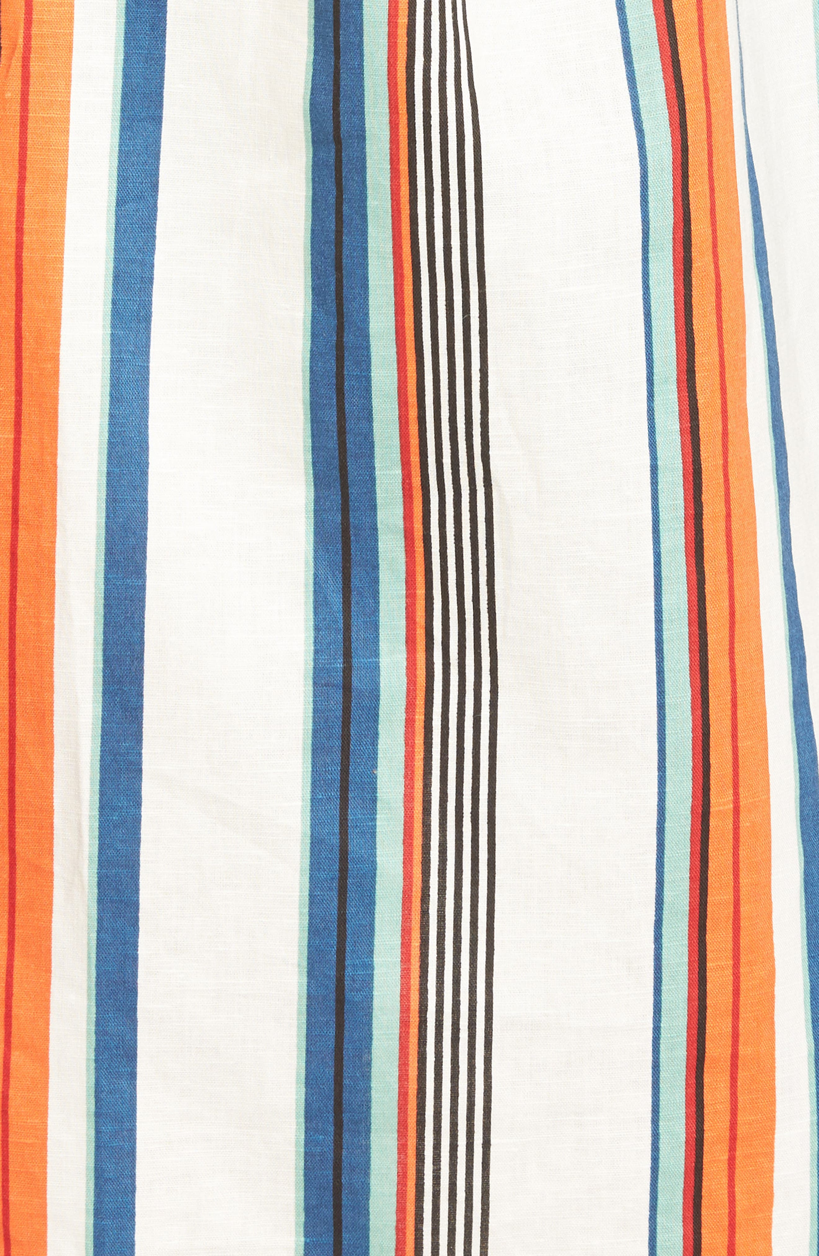 Alternate Image 7  - MOON RIVER Stripe Linen & Cotton Dress