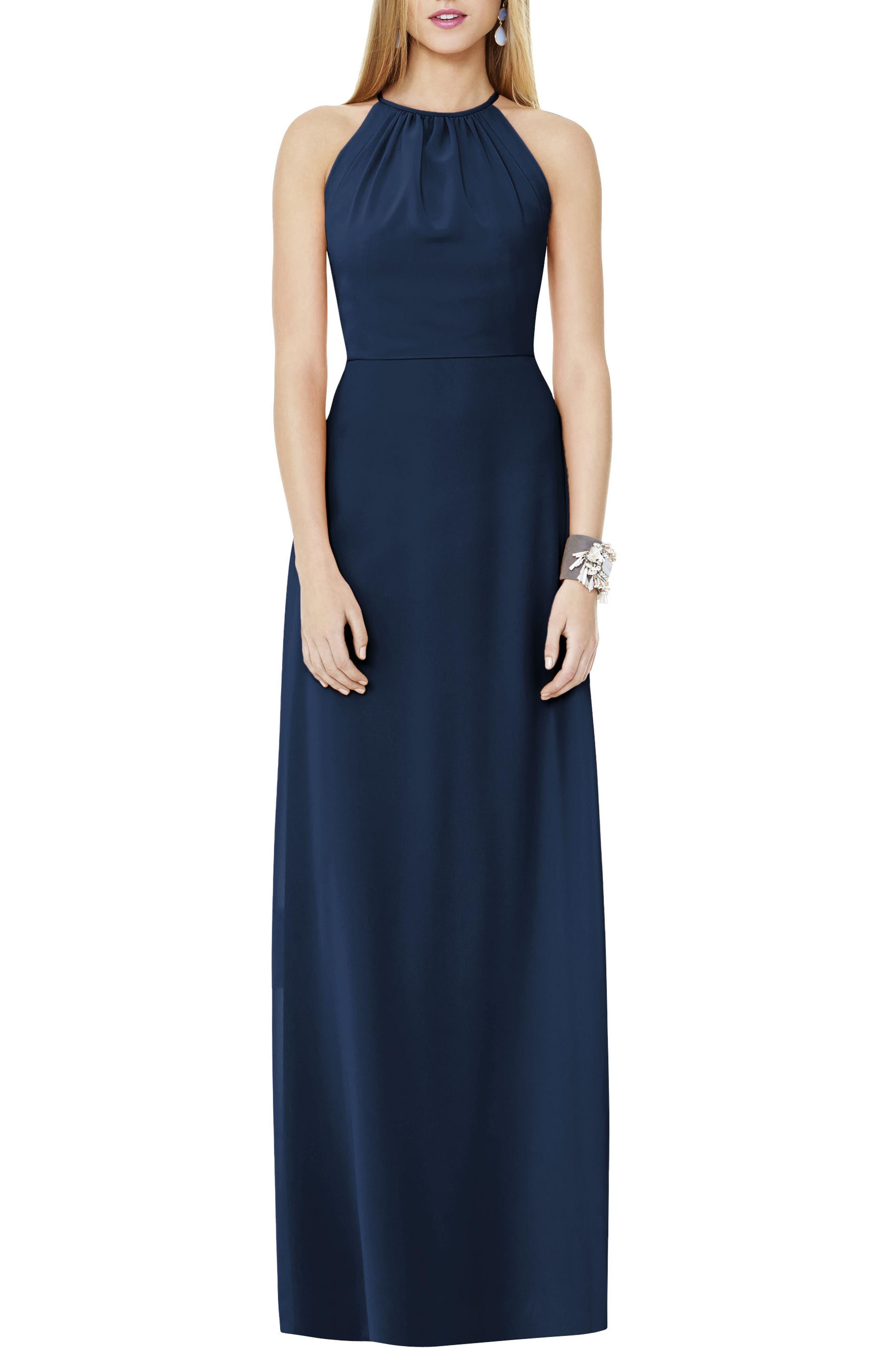 Main Image - Social Bridesmaids Matte Chiffon Gown