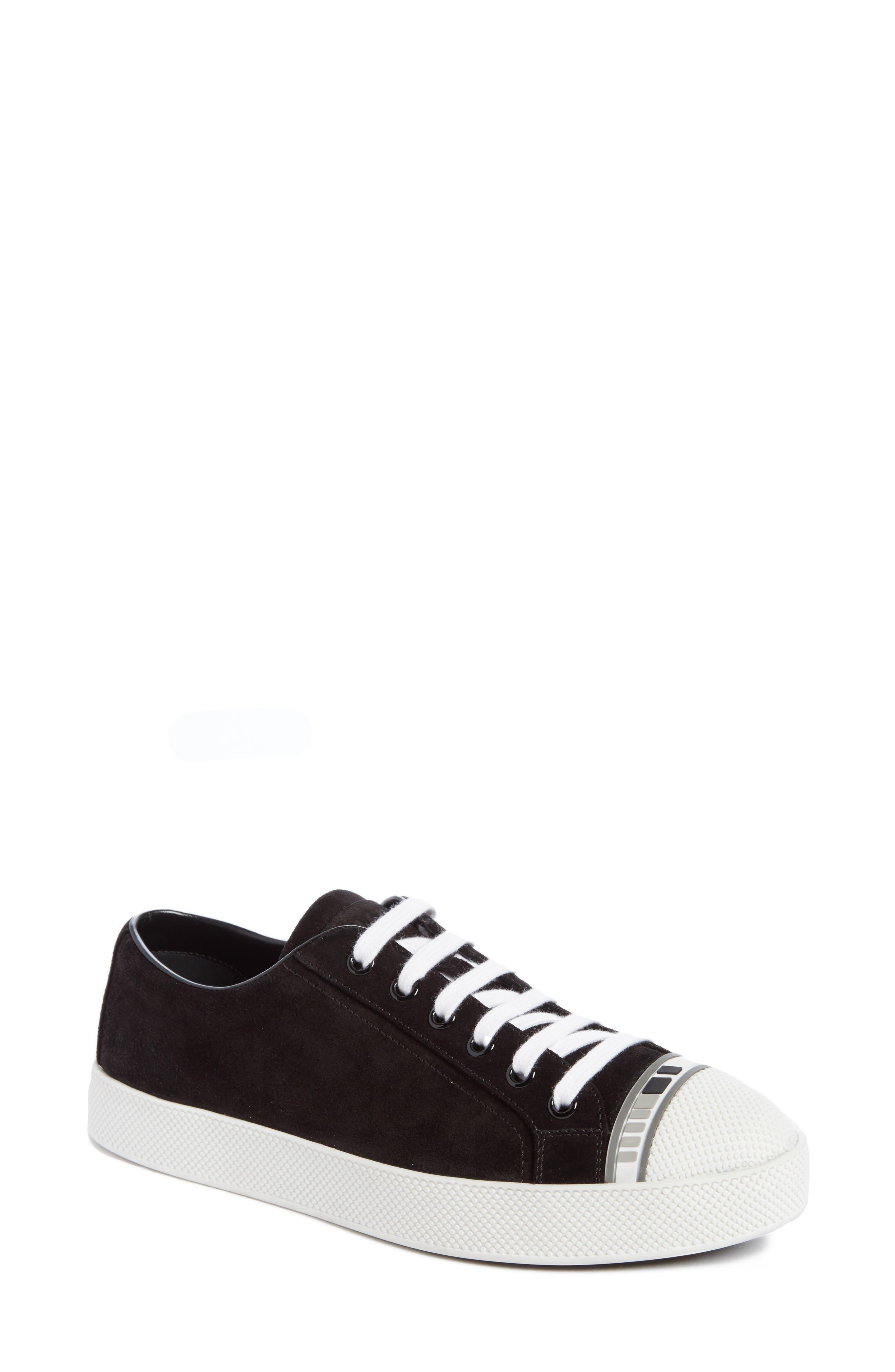 Alternate Image 1 Selected - Prada Linea Rossa Logo Platform Sneaker (Women)