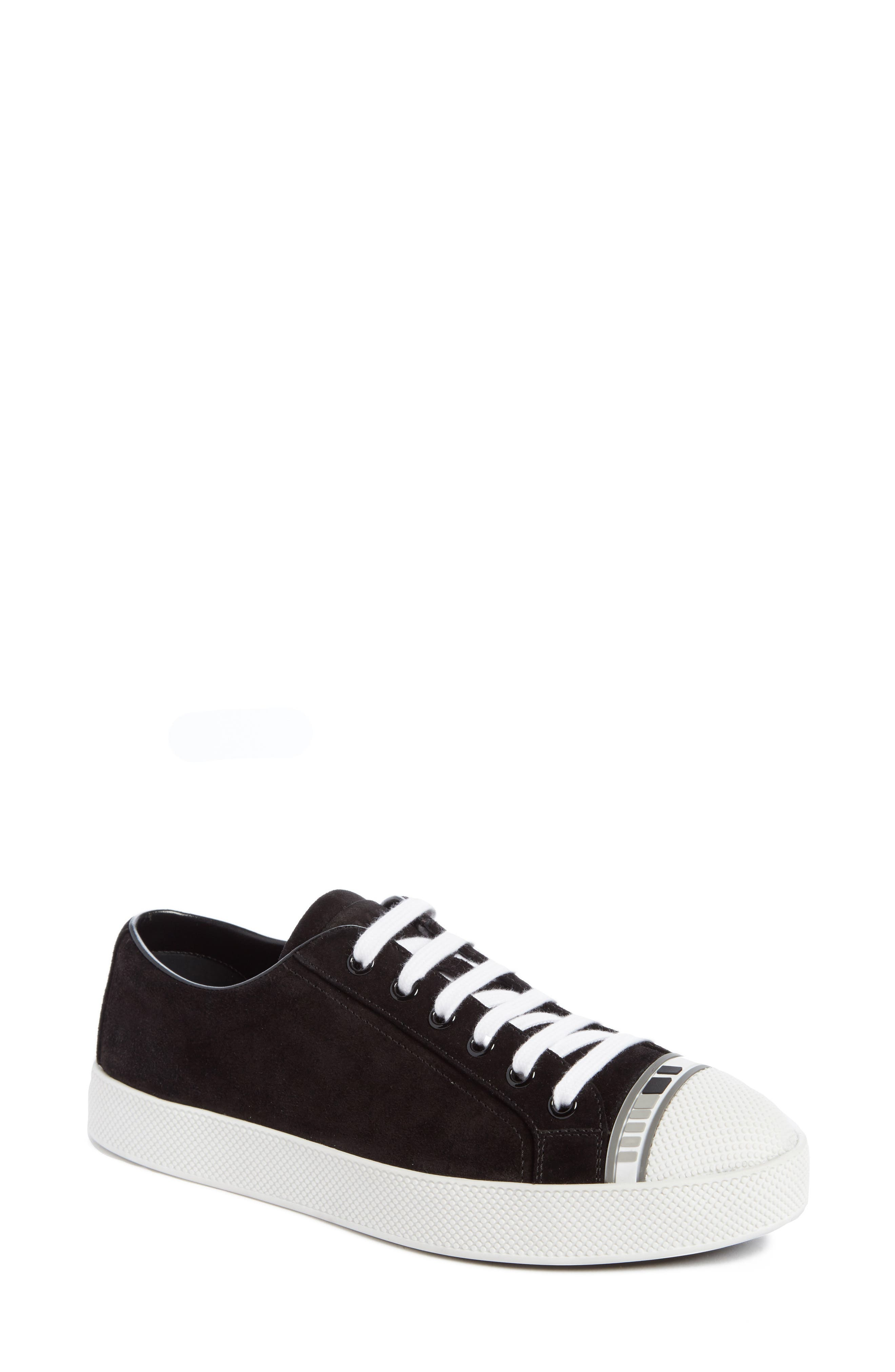 Main Image - Prada Linea Rossa Logo Platform Sneaker (Women)