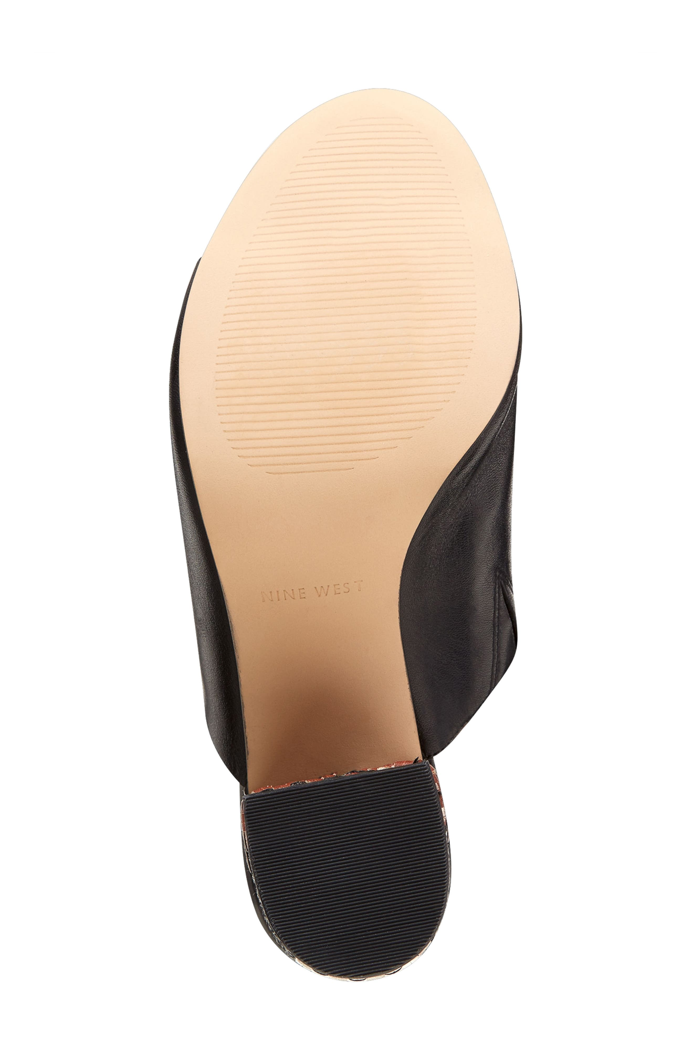 Alternate Image 4  - Nine West Gemily Block Heel Slide Sandal (Women)