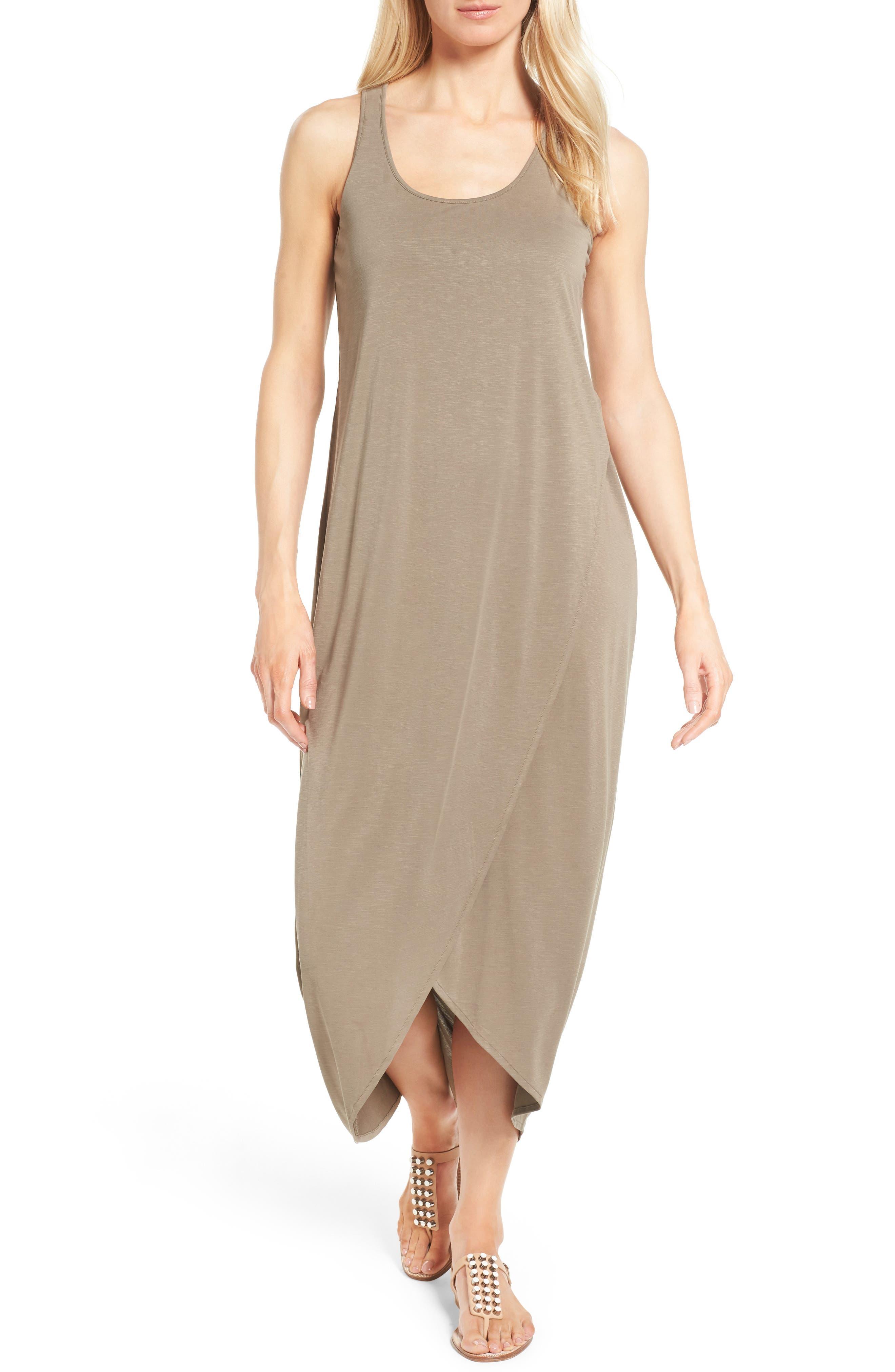 Boardwalk Jersey Maxi Dress,                         Main,                         color, Washed Marshland
