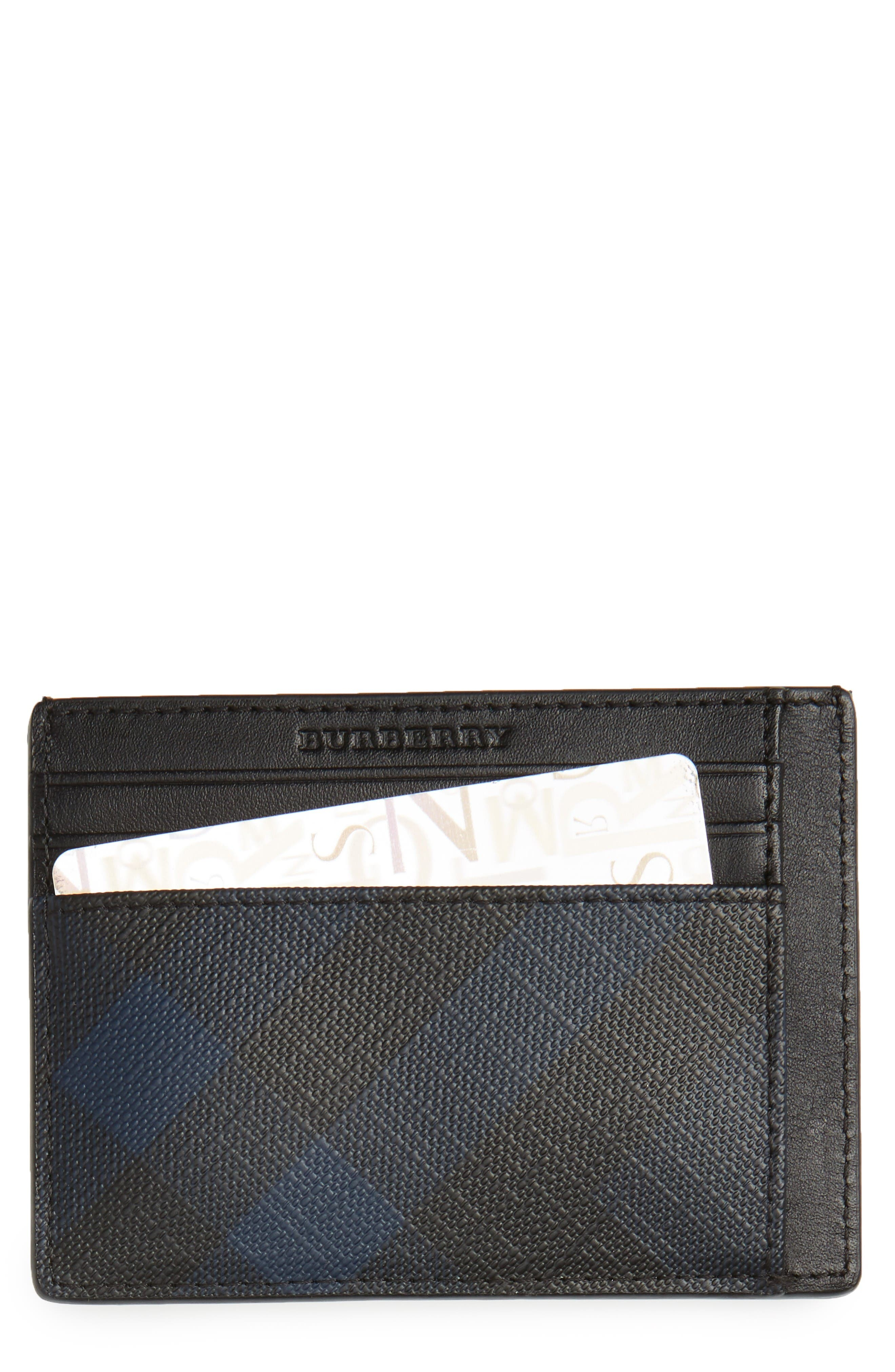Bernie Check Card Case,                         Main,                         color, Navy