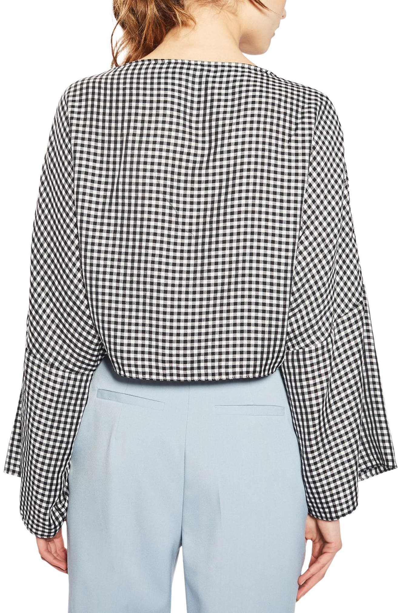 Alternate Image 3  - Topshop Knot Gingham Top