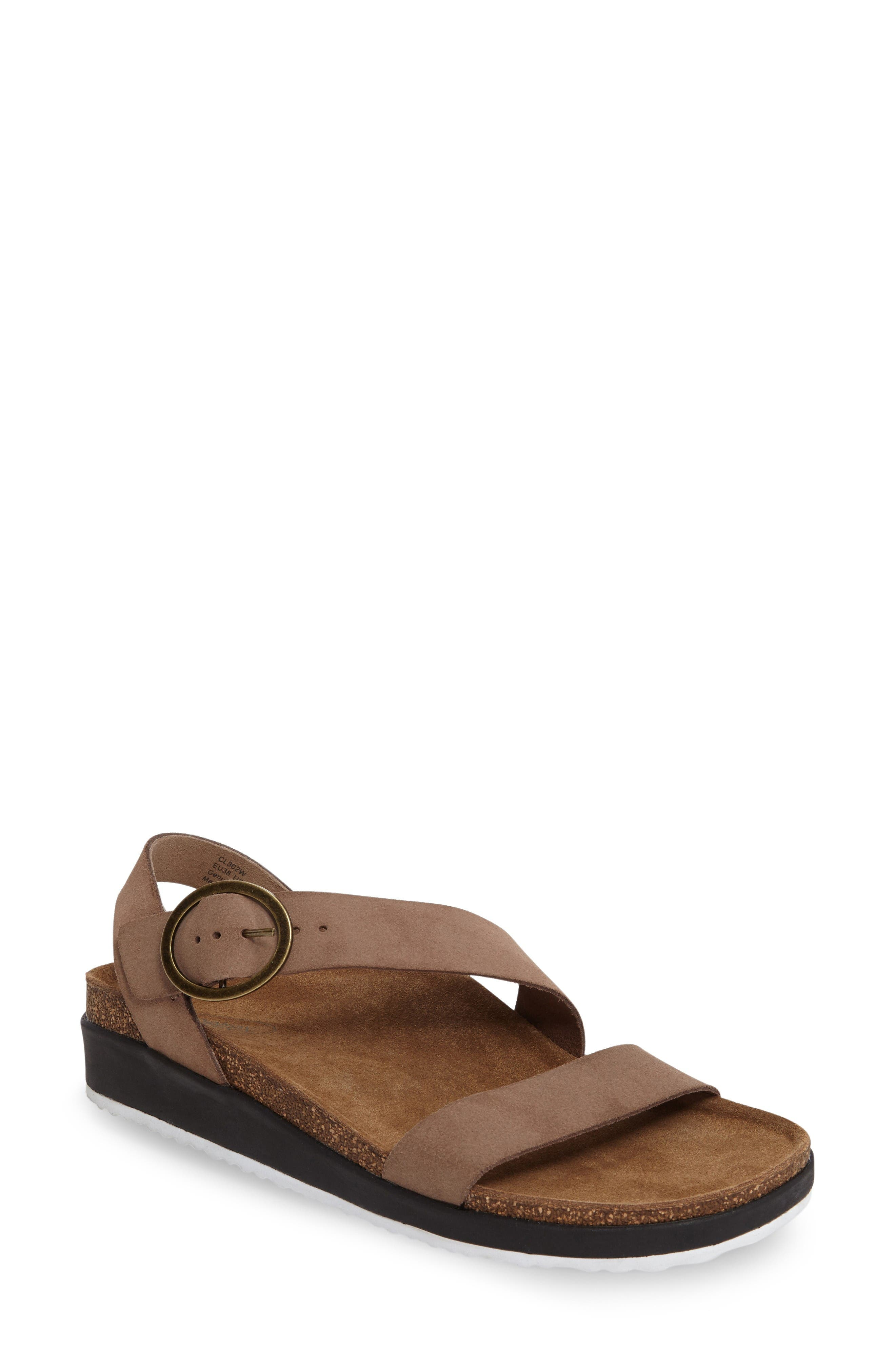 Adrianna Sandal,                             Main thumbnail 1, color,                             Taupe Suede