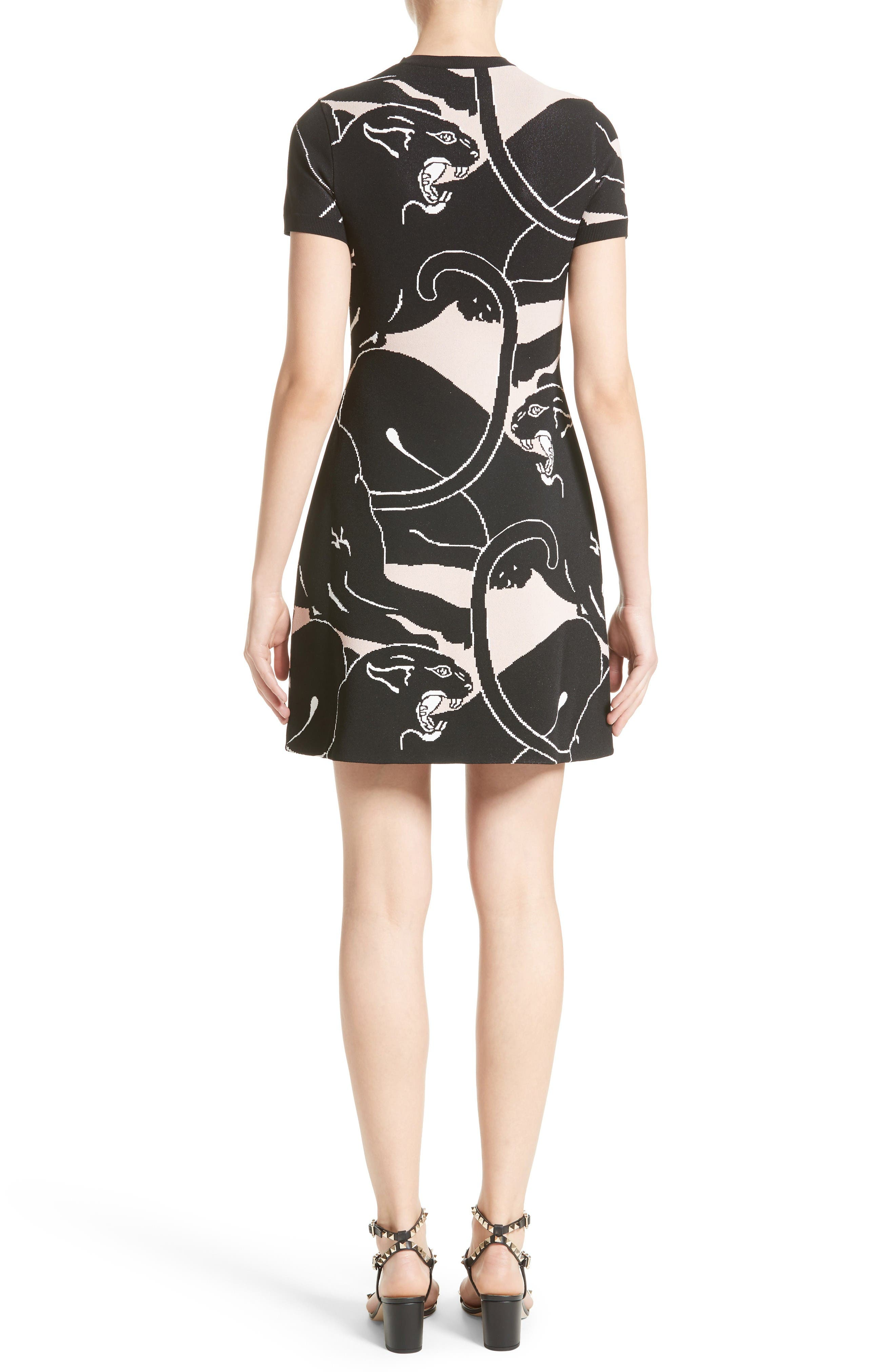 Alternate Image 2  - Valentino Jacquard Panther Print Dress
