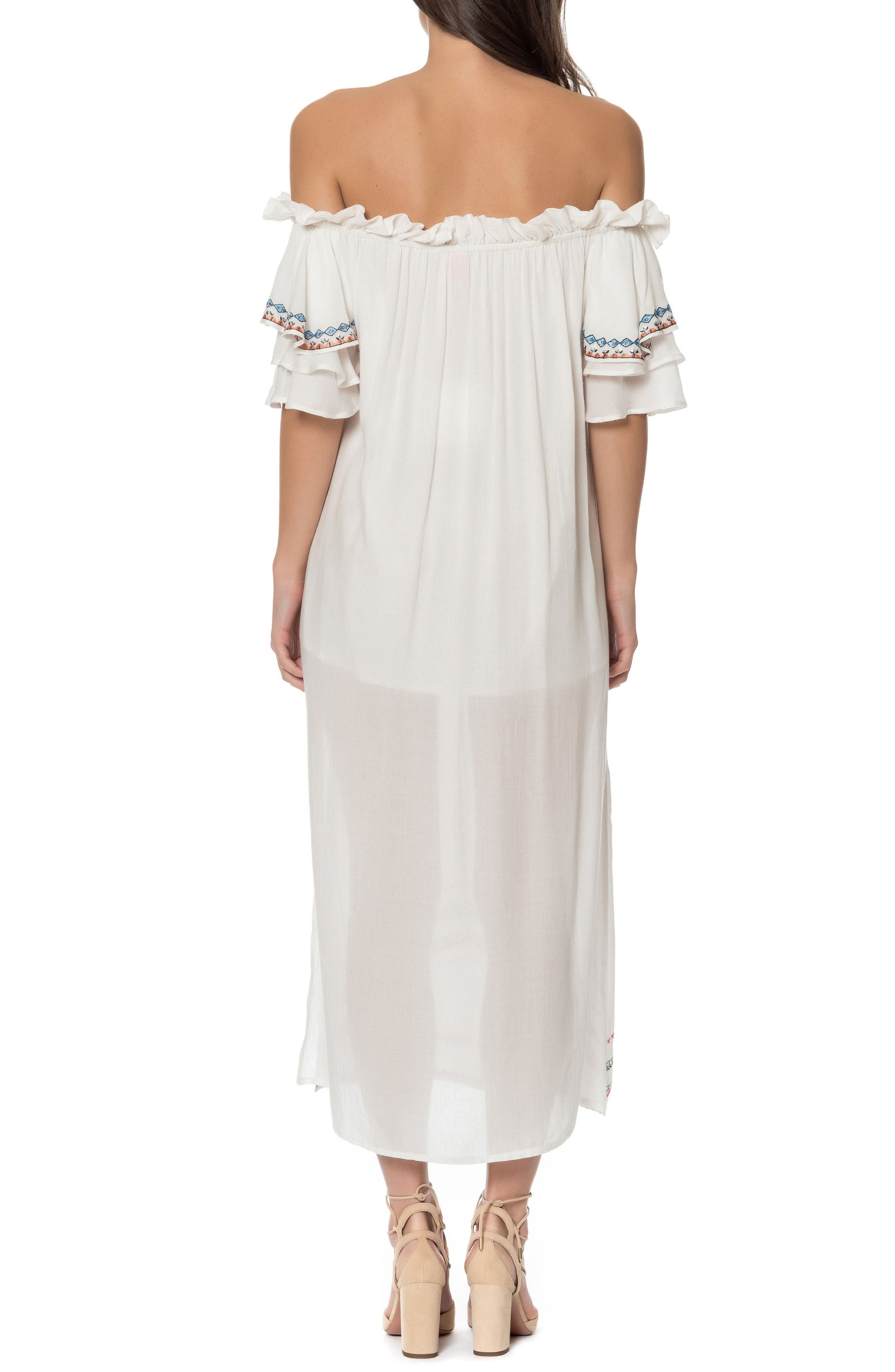 Covo Cover-Up Dress,                             Alternate thumbnail 2, color,                             Ivory Multi