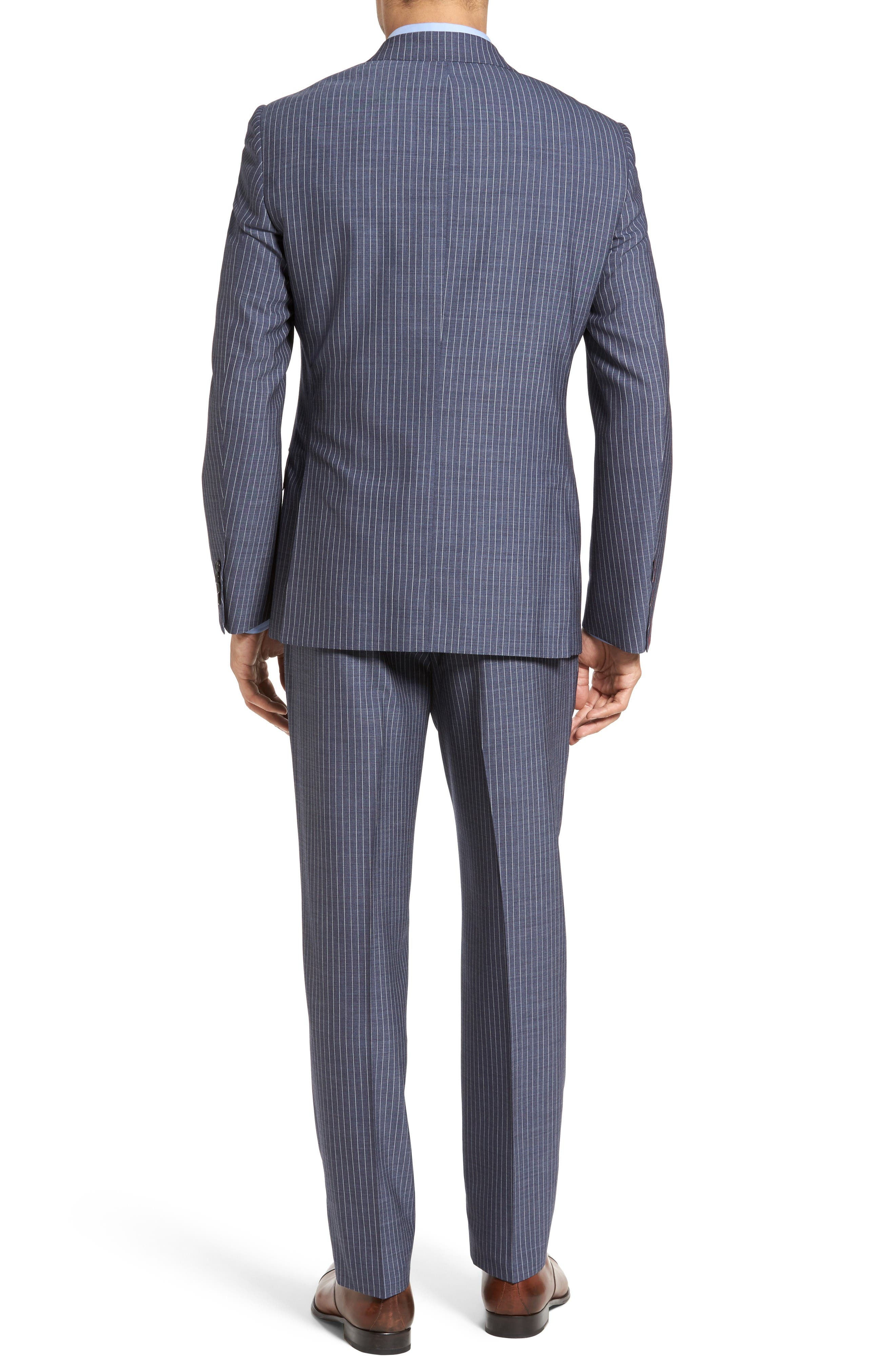 Beckett Classic Fit Stripe Wool Suit,                             Alternate thumbnail 2, color,                             Light Blue