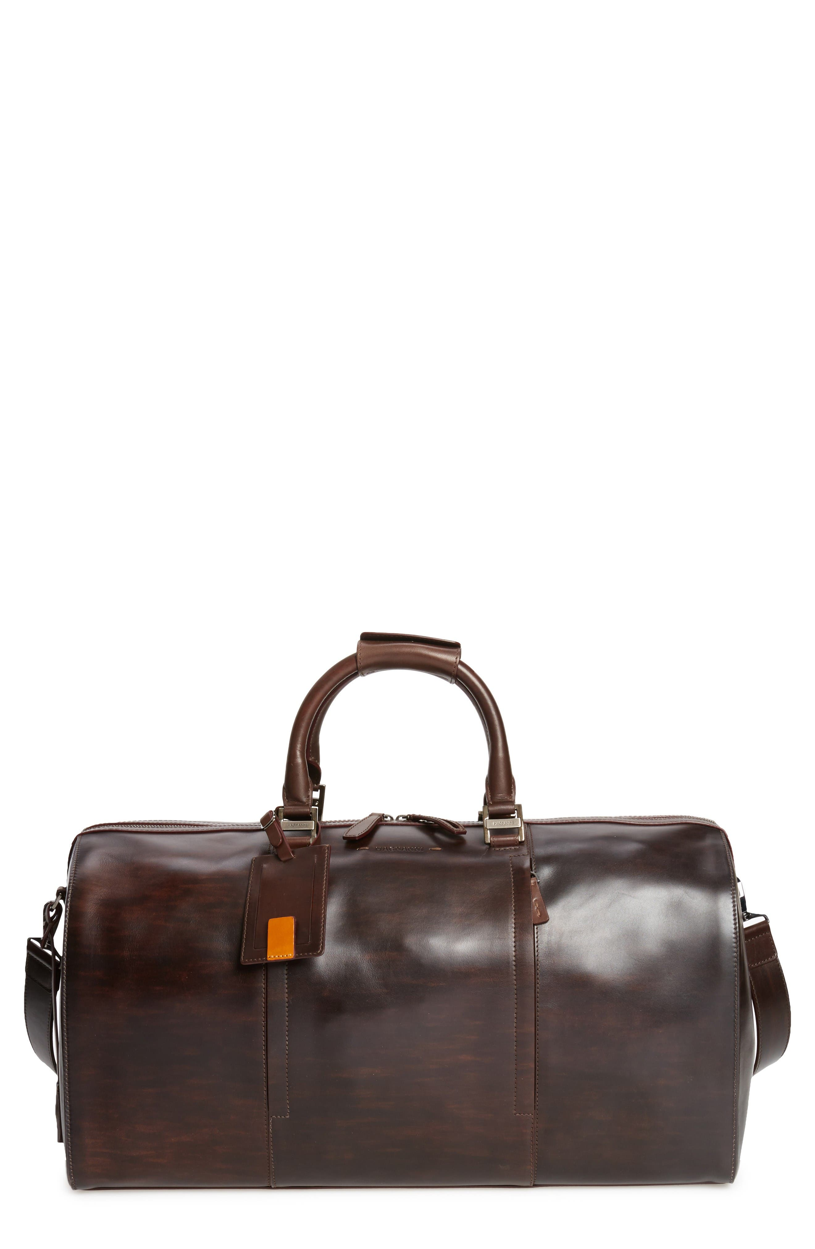 Alternate Image 1 Selected - Magnanni Traveler Leather Duffel Bag