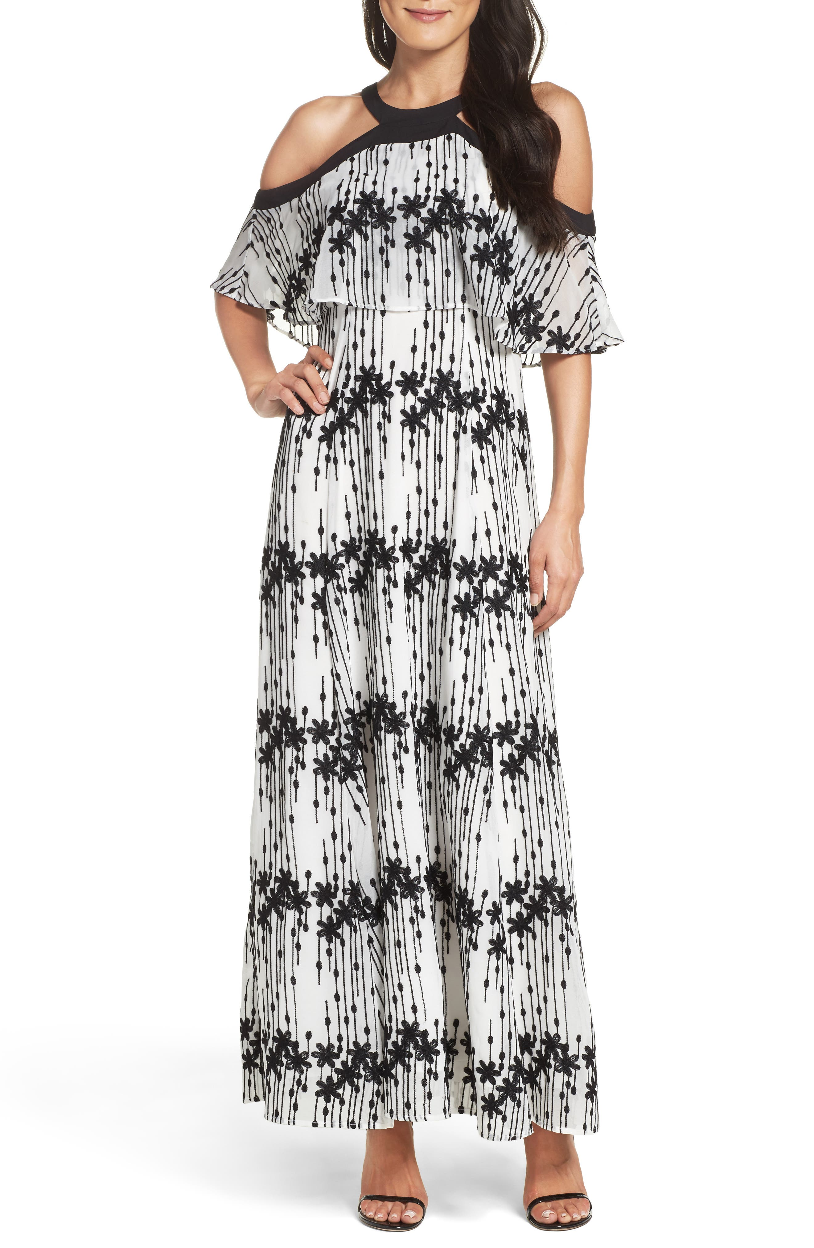 Taylor Dresses Cold Shoulder Maxi Dress