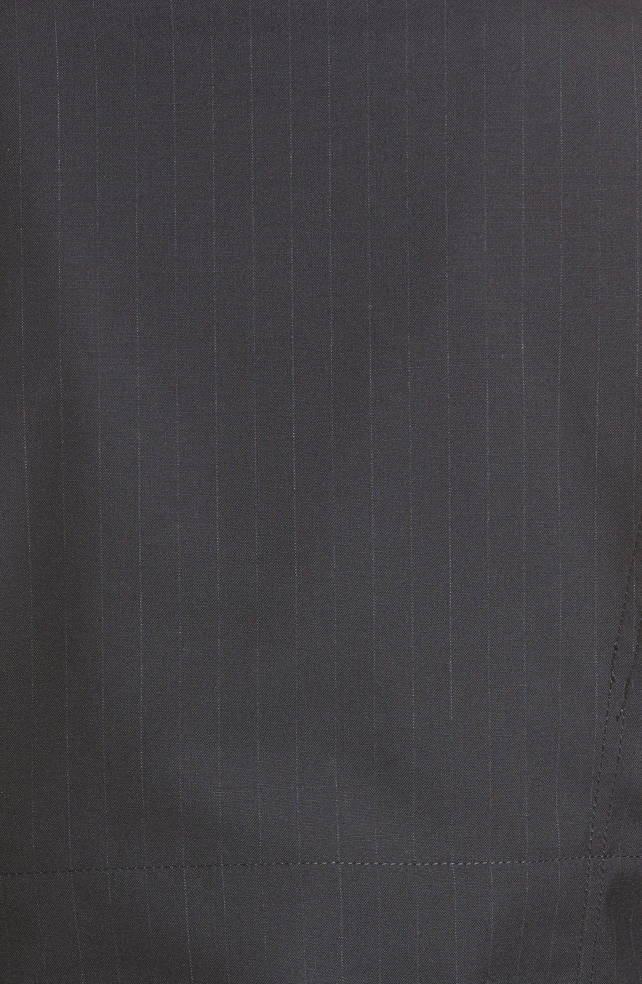 Alternate Image 3  - Comme des Garçons Pinstripe Tropical Wool Moto Jacket