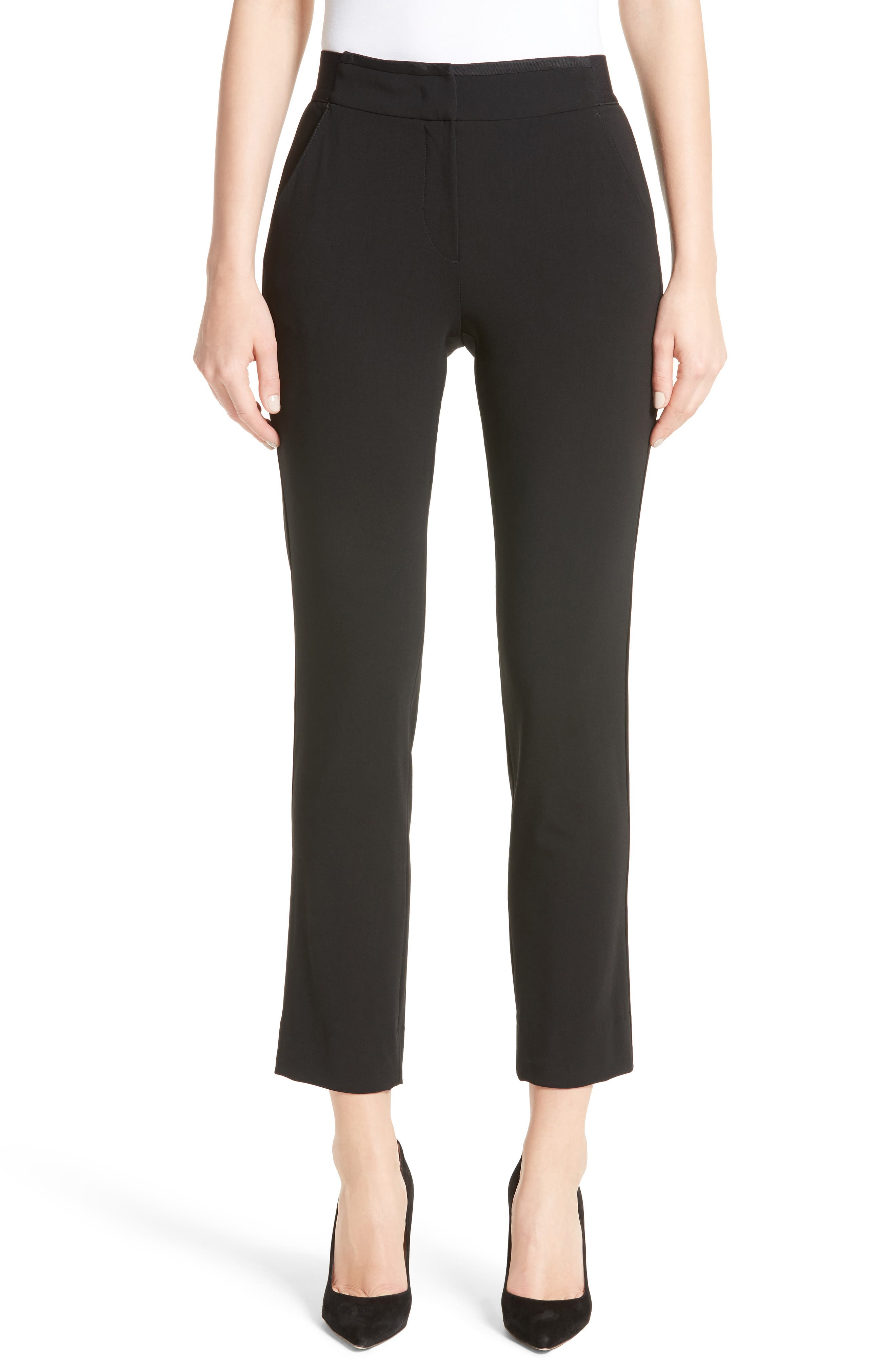 Alternate Image 1 Selected - Armani Collezioni Stretch Wool Pants