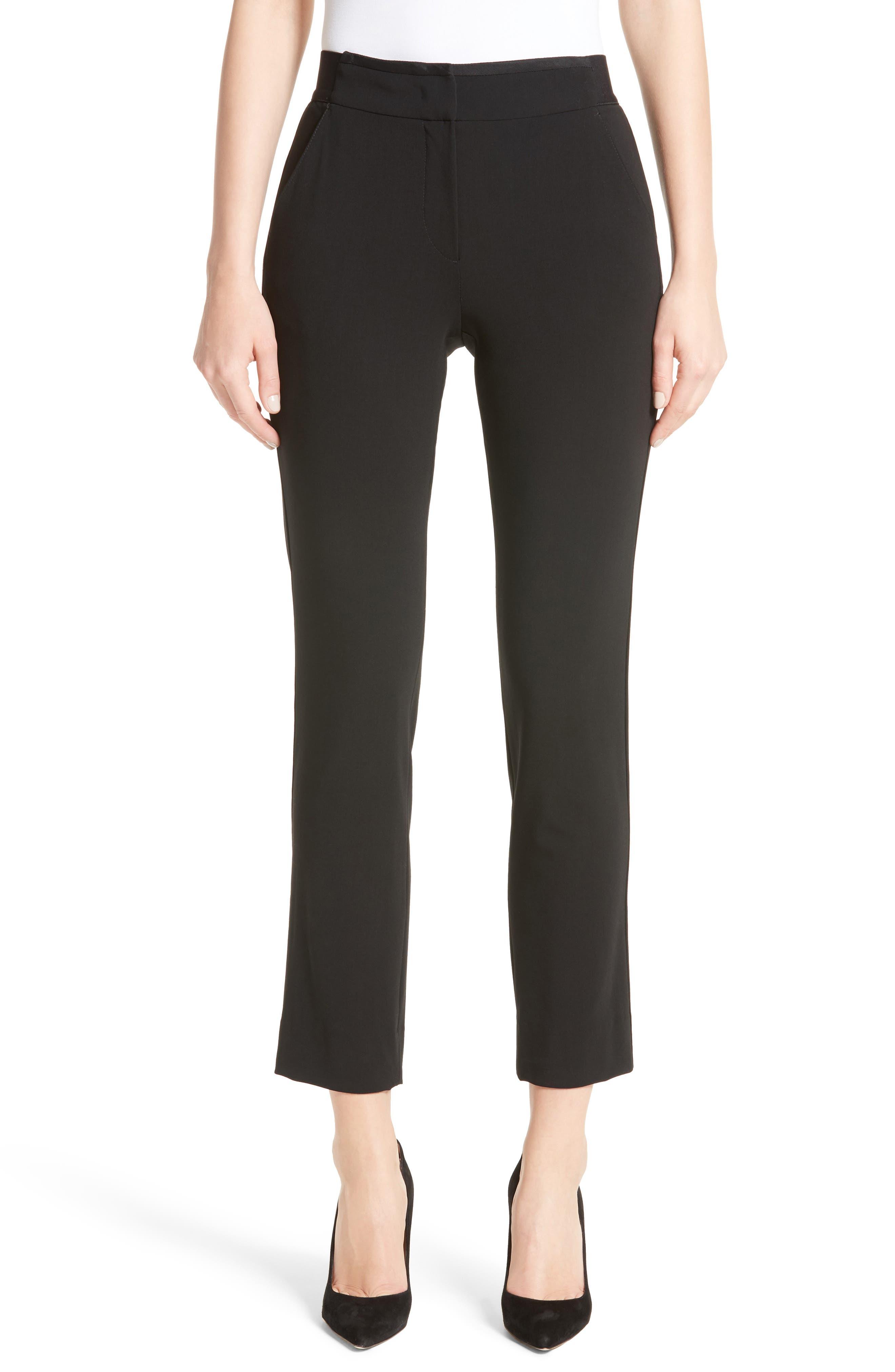 Stretch Wool Pants,                         Main,                         color, Black