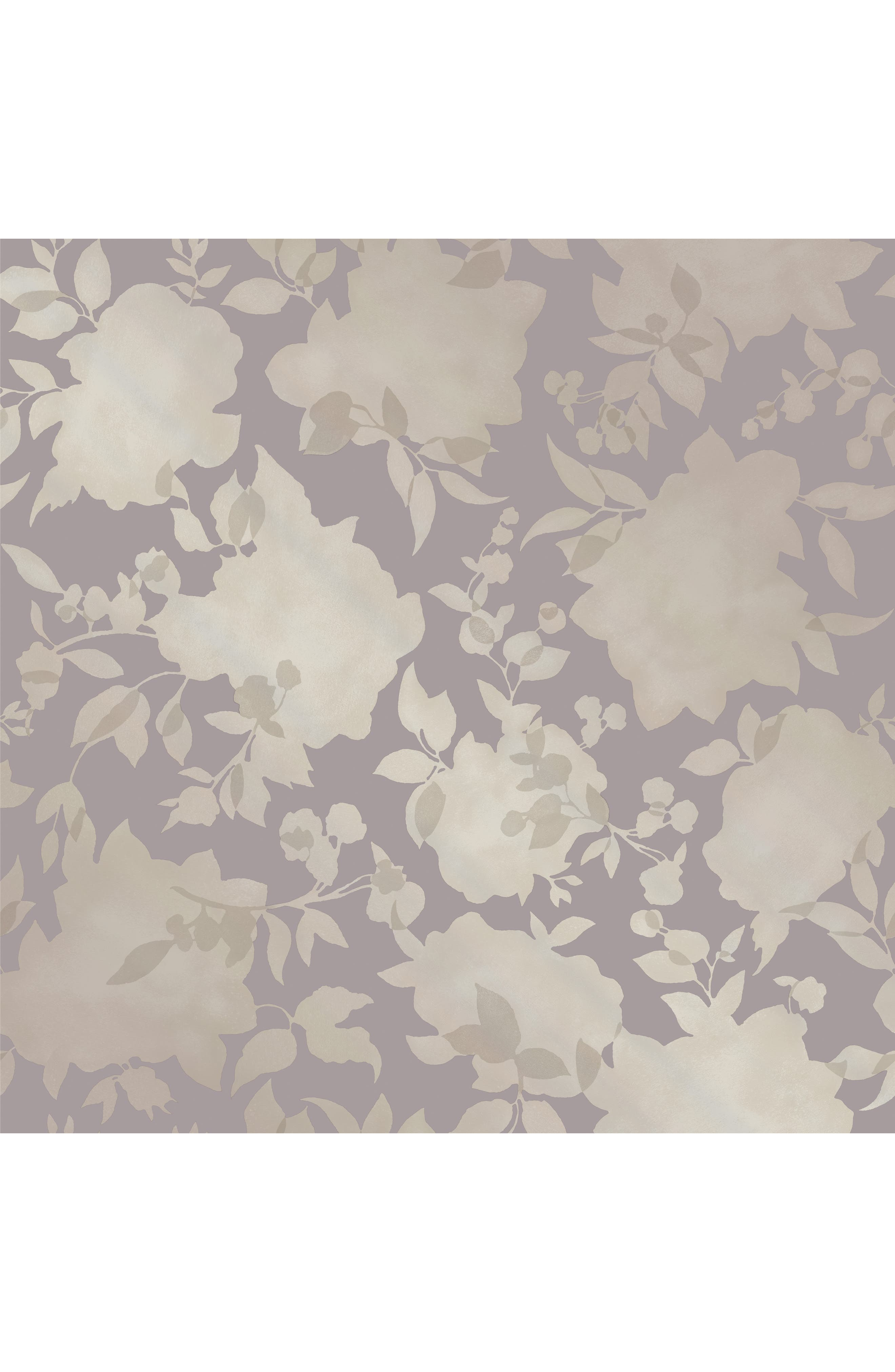 Silhouette Self-Adhesive Vinyl Wallpaper,                         Main,                         color, Dusted Lavendar