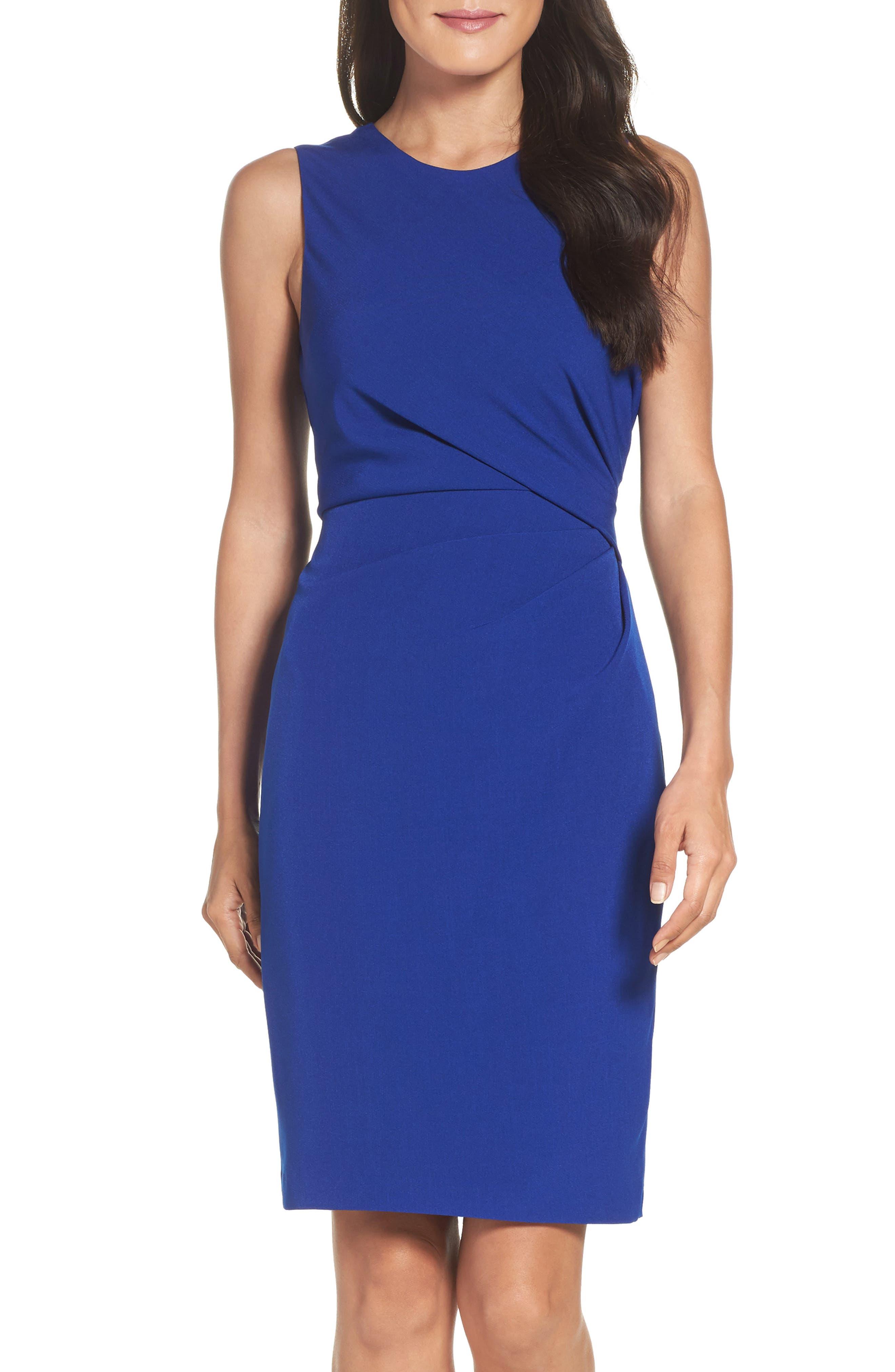 Alternate Image 1 Selected - Adrianna Papell Crepe Sheath Dress