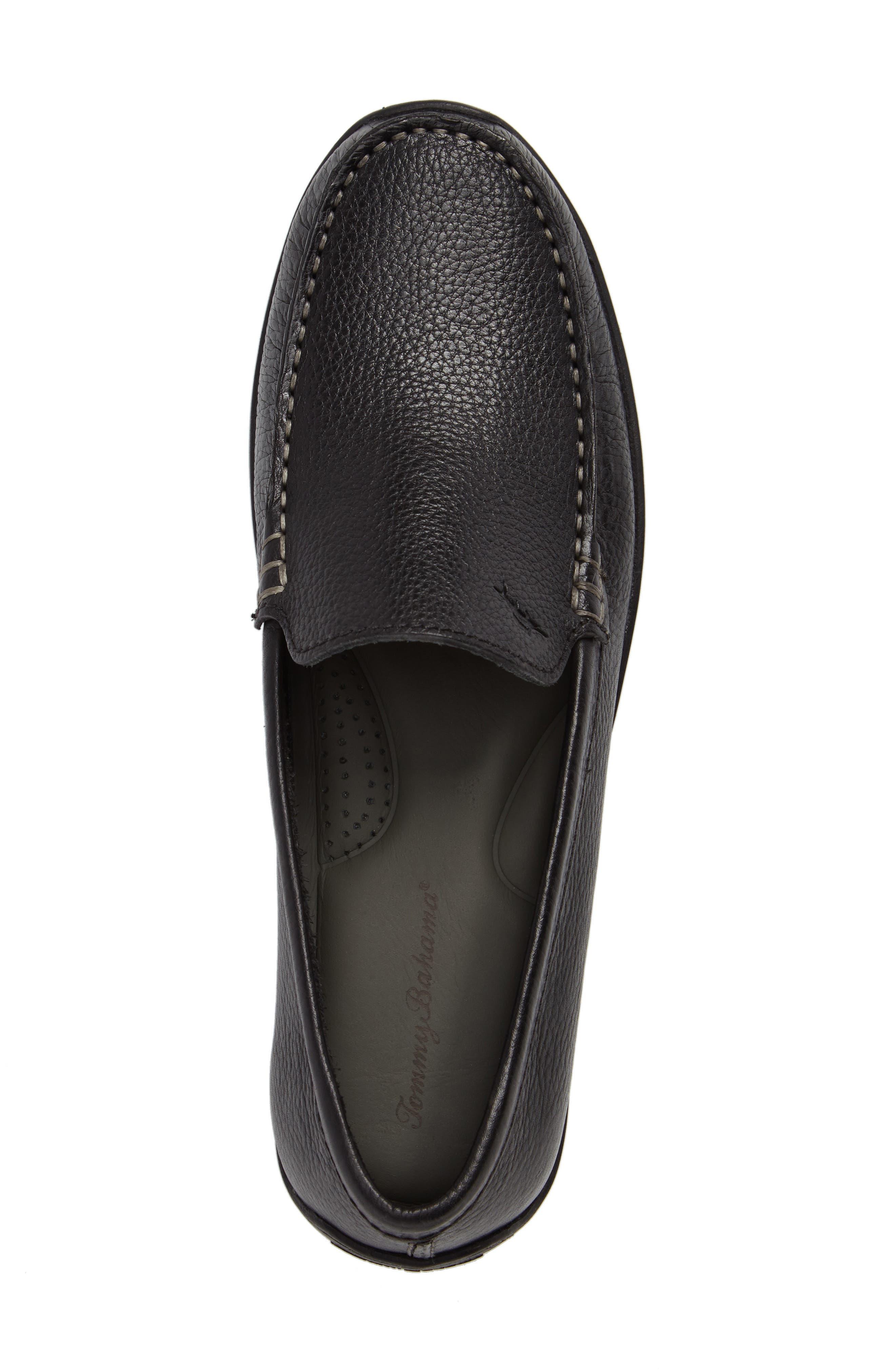 Orion Venetian Loafer,                             Alternate thumbnail 5, color,                             Black Leather