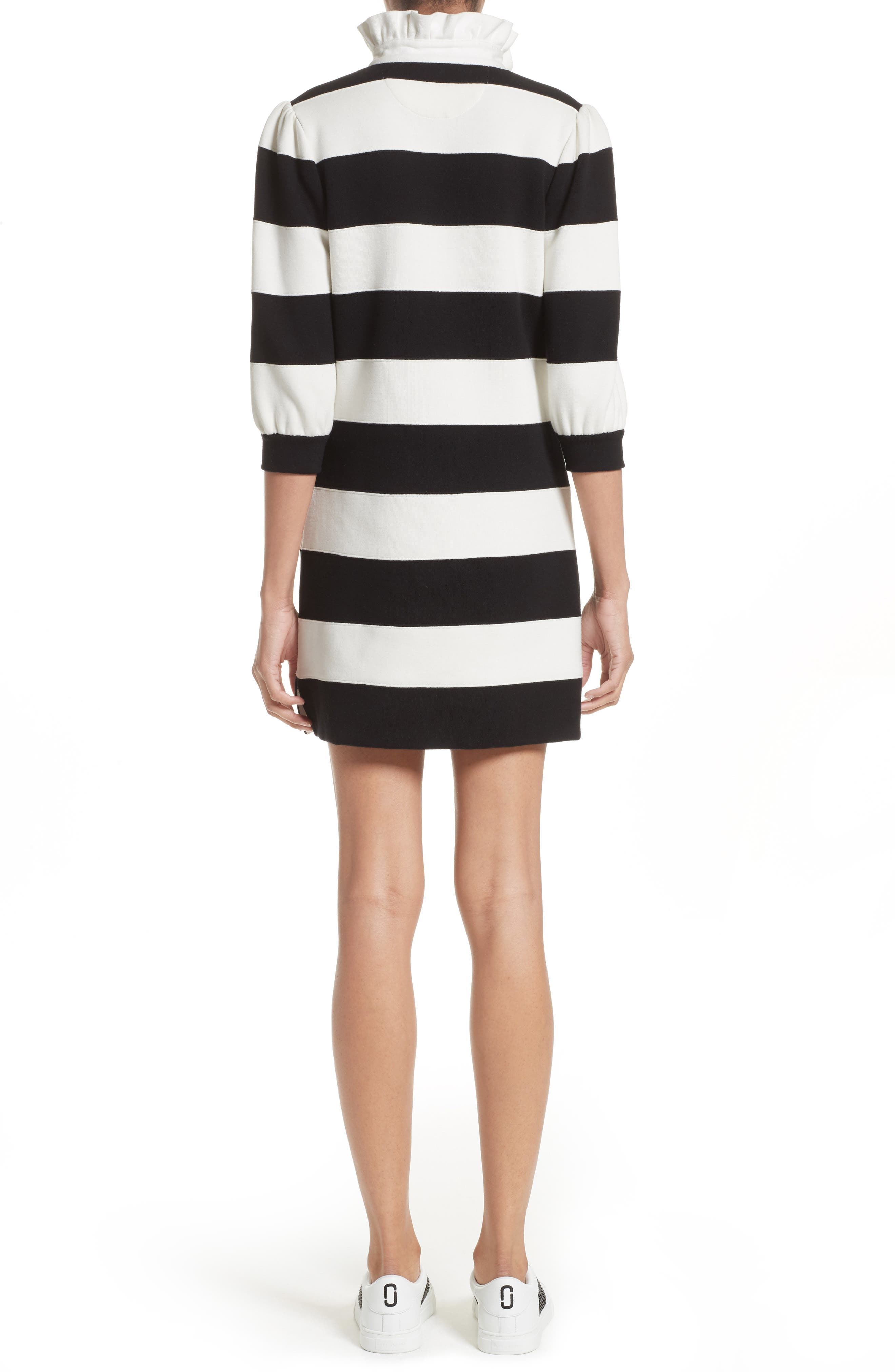 Rugby Sweater Dress,                             Alternate thumbnail 2, color,                             Black Multi