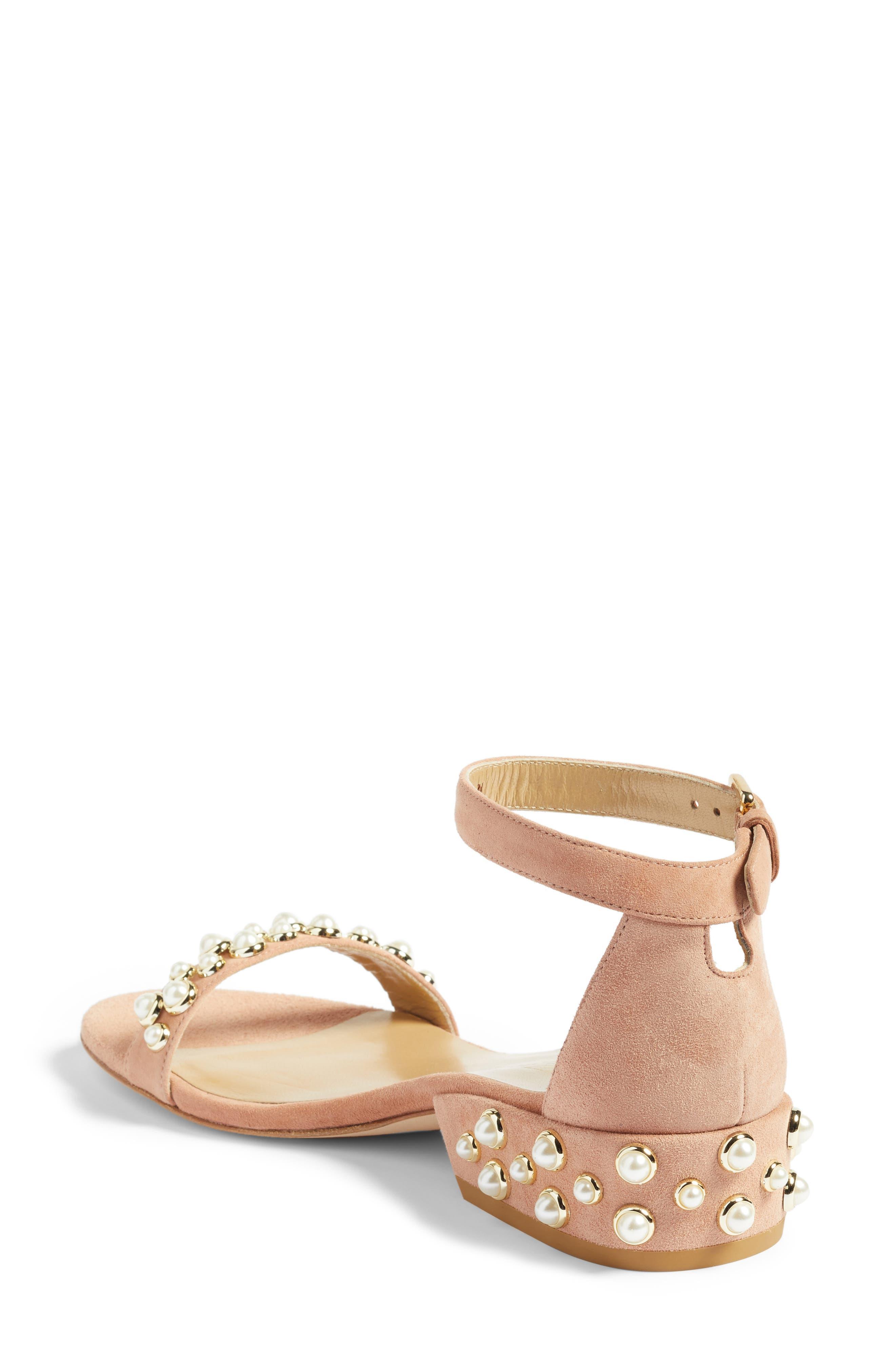 Alternate Image 2  - Stuart Weitzman Allpearls Ankle Strap Sandal (Women)