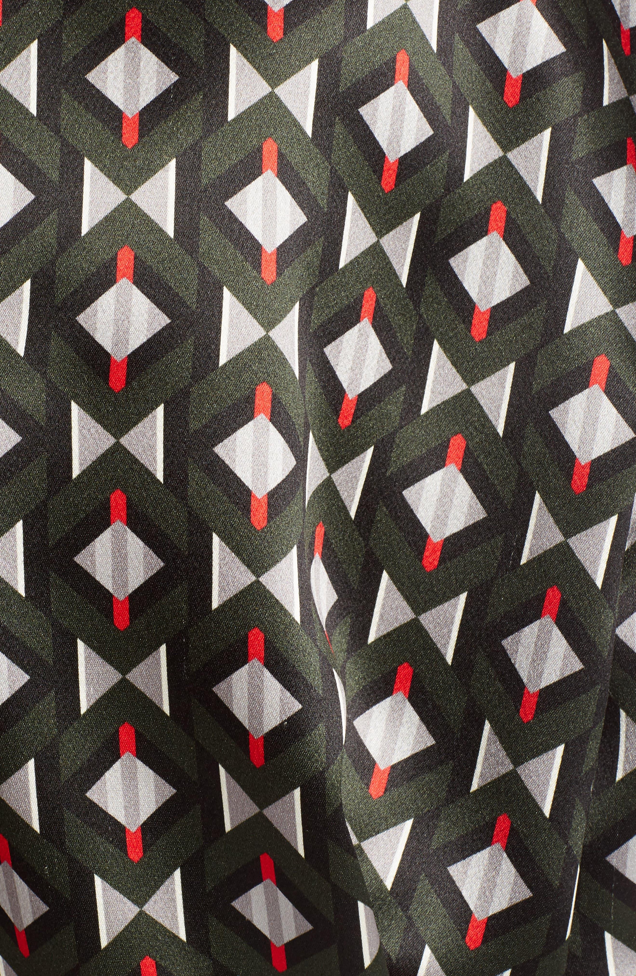 Silk Satin Tie Neck Blouse,                             Alternate thumbnail 3, color,                             Color Block