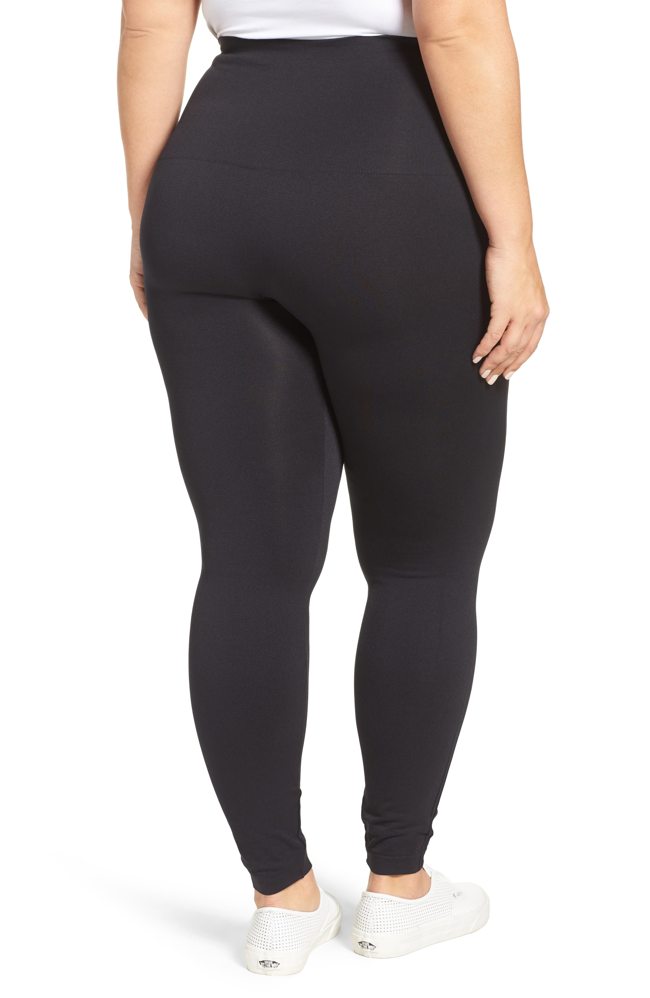 Alternate Image 2  - SPANX® Look At Me Now Seamless Leggings (Plus Size)